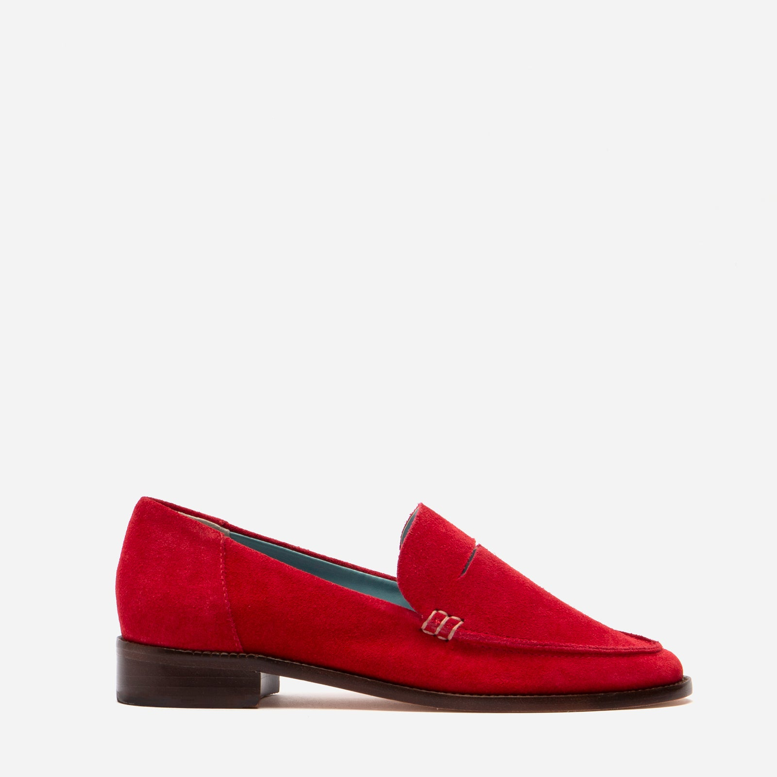 Penny Loafer Suede Red - Frances Valentine