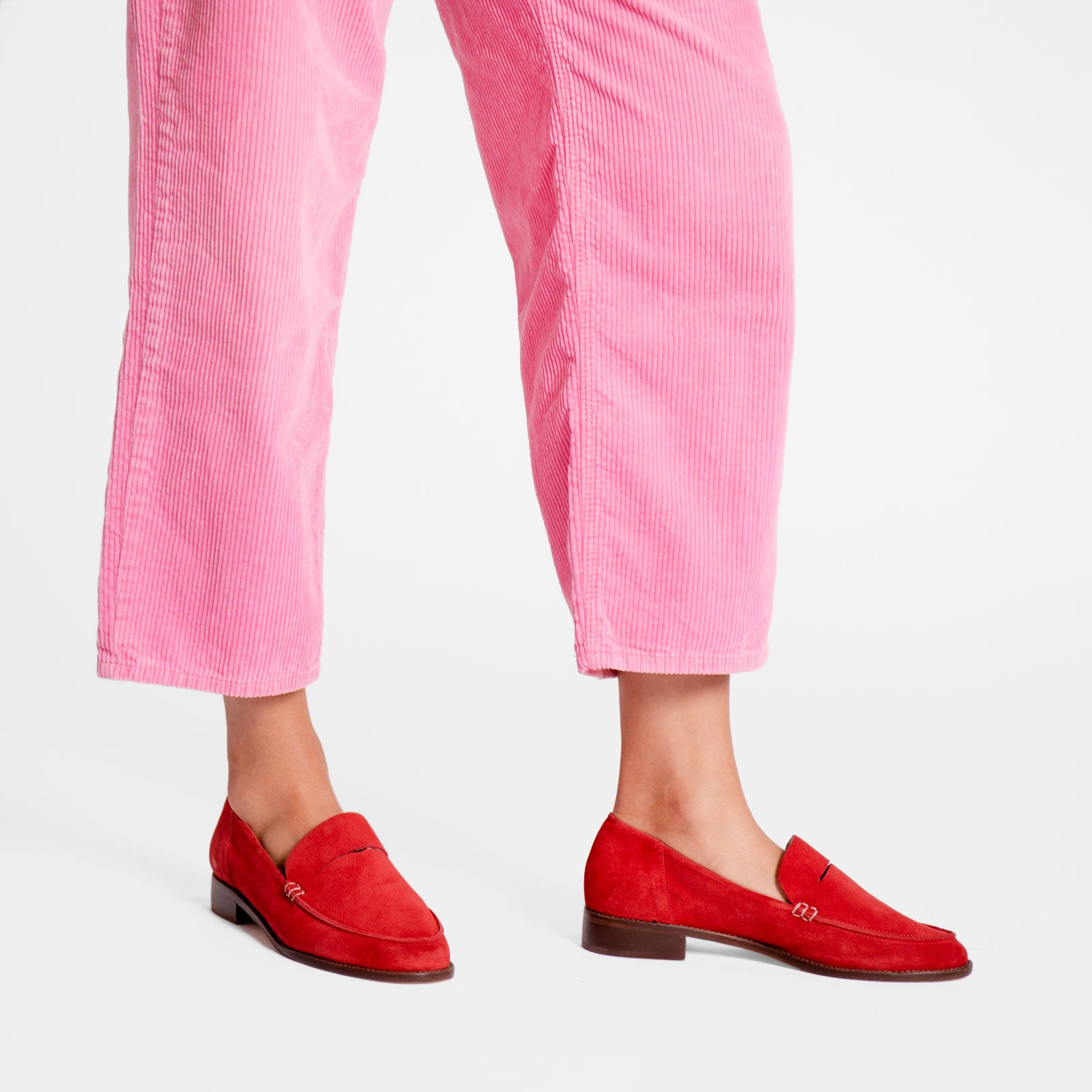 Penny Loafer Suede Red