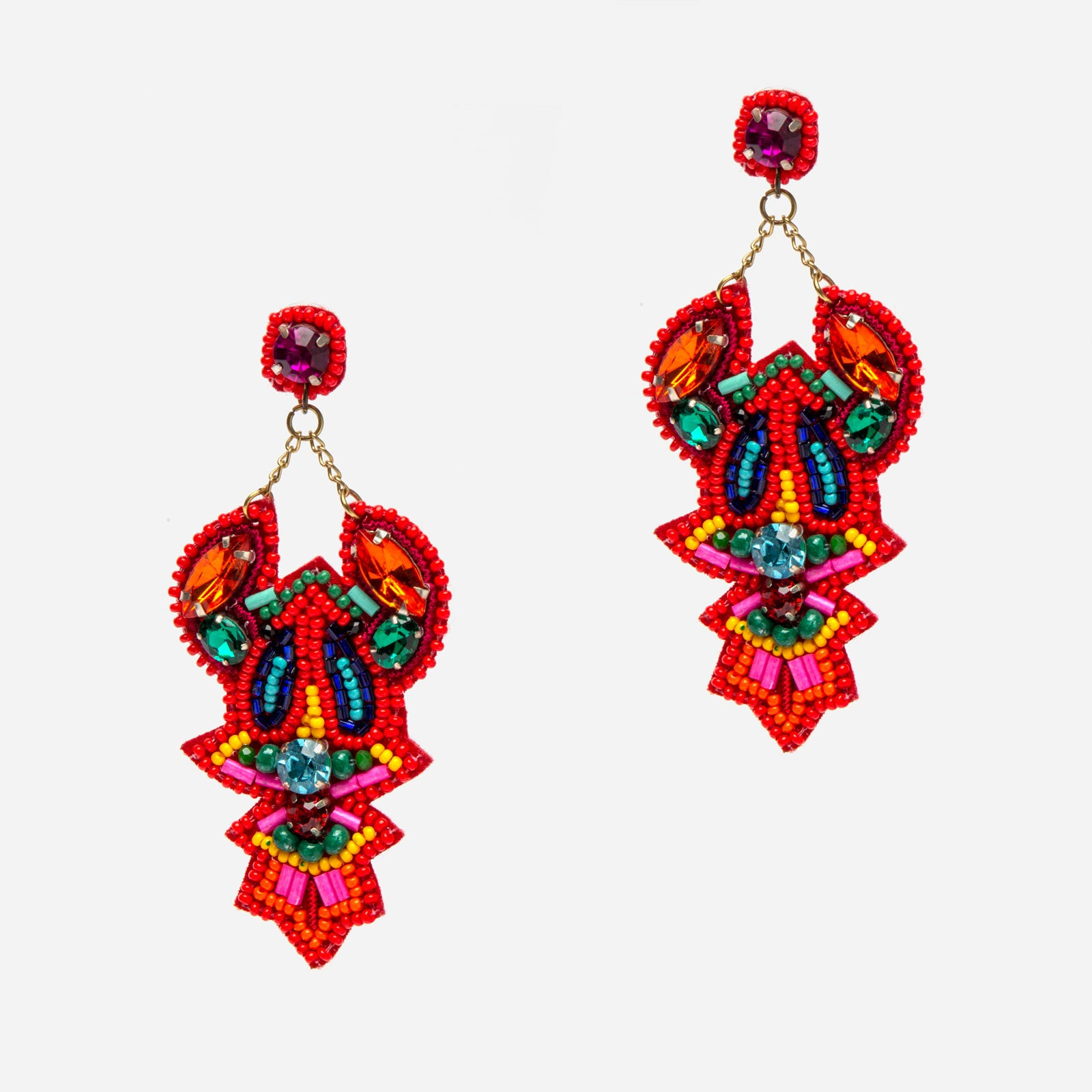 Chatham Lobster Earring - Frances Valentine