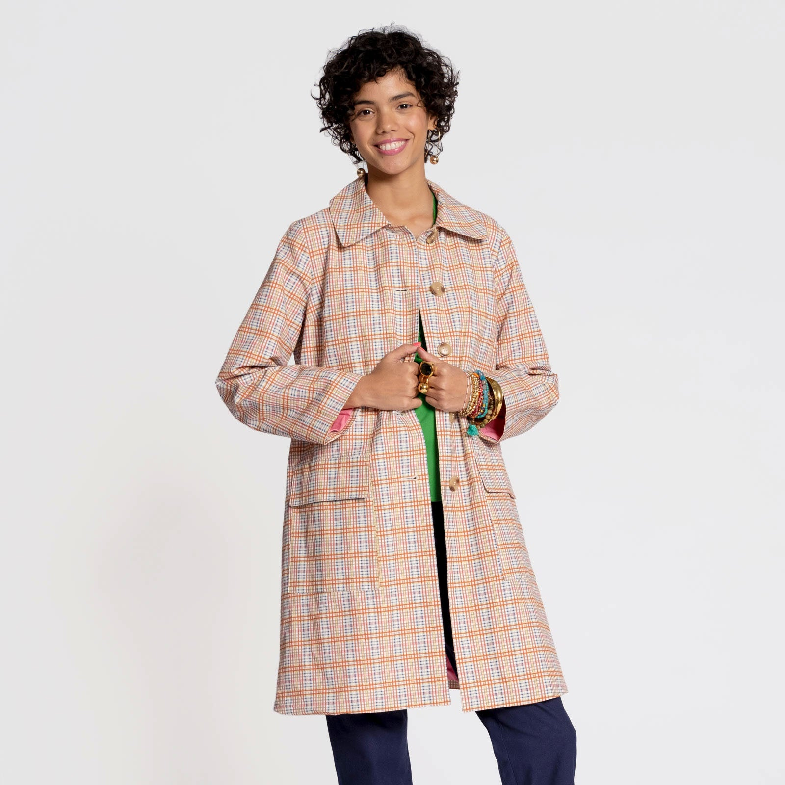 Lockwood Plaid Coat