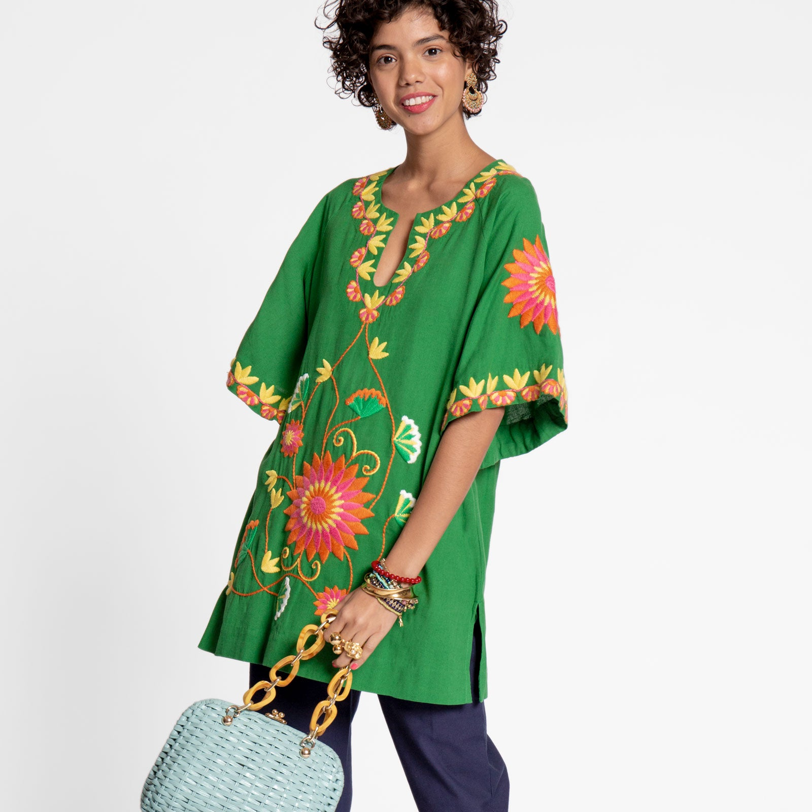 Mandala Tunic Green