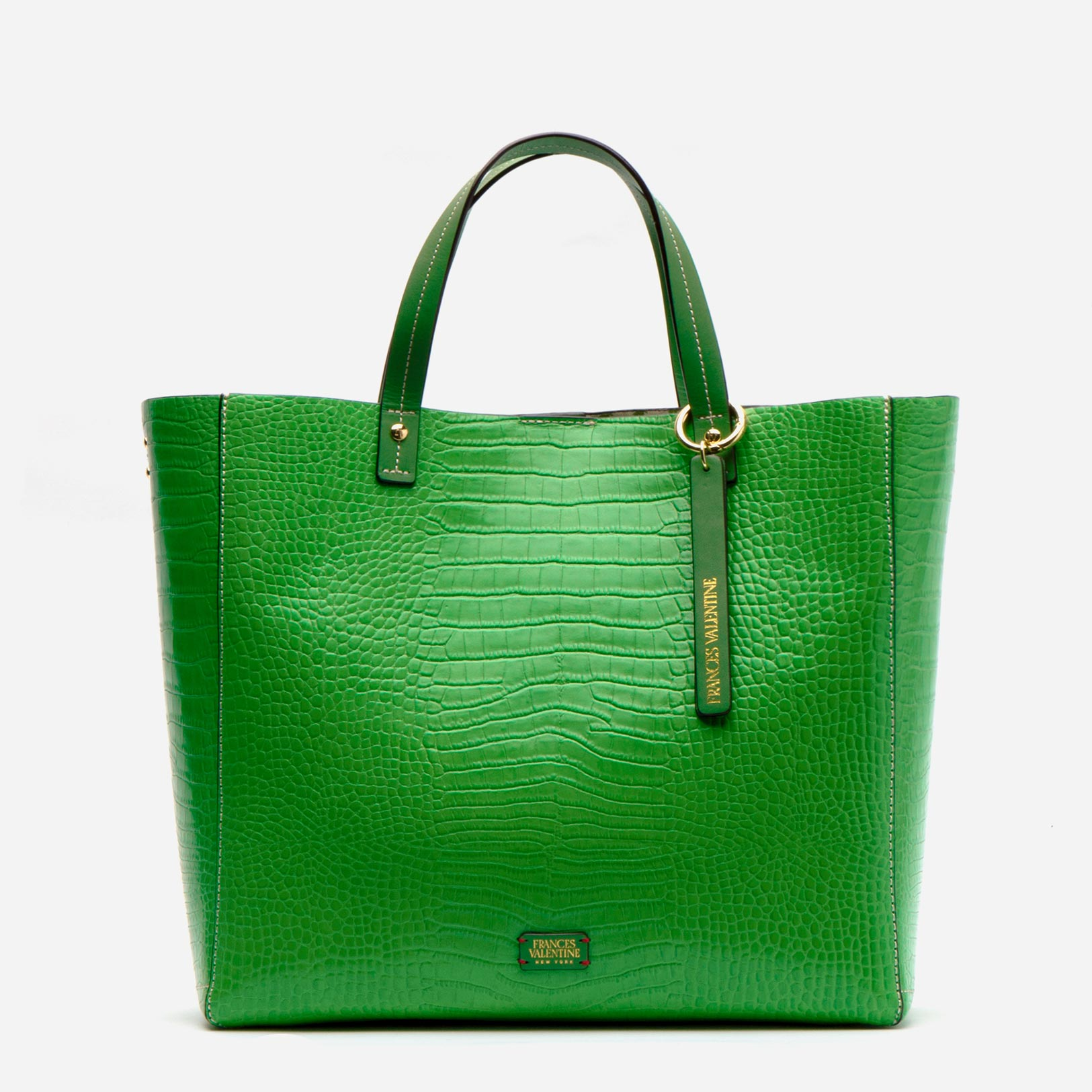 Margaret Tote Croc Embossed Leather Green