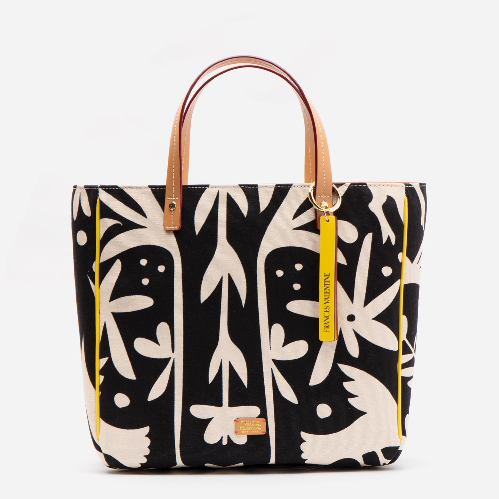 Margaret Tote Veracruz Printed Canvas Black Oyster