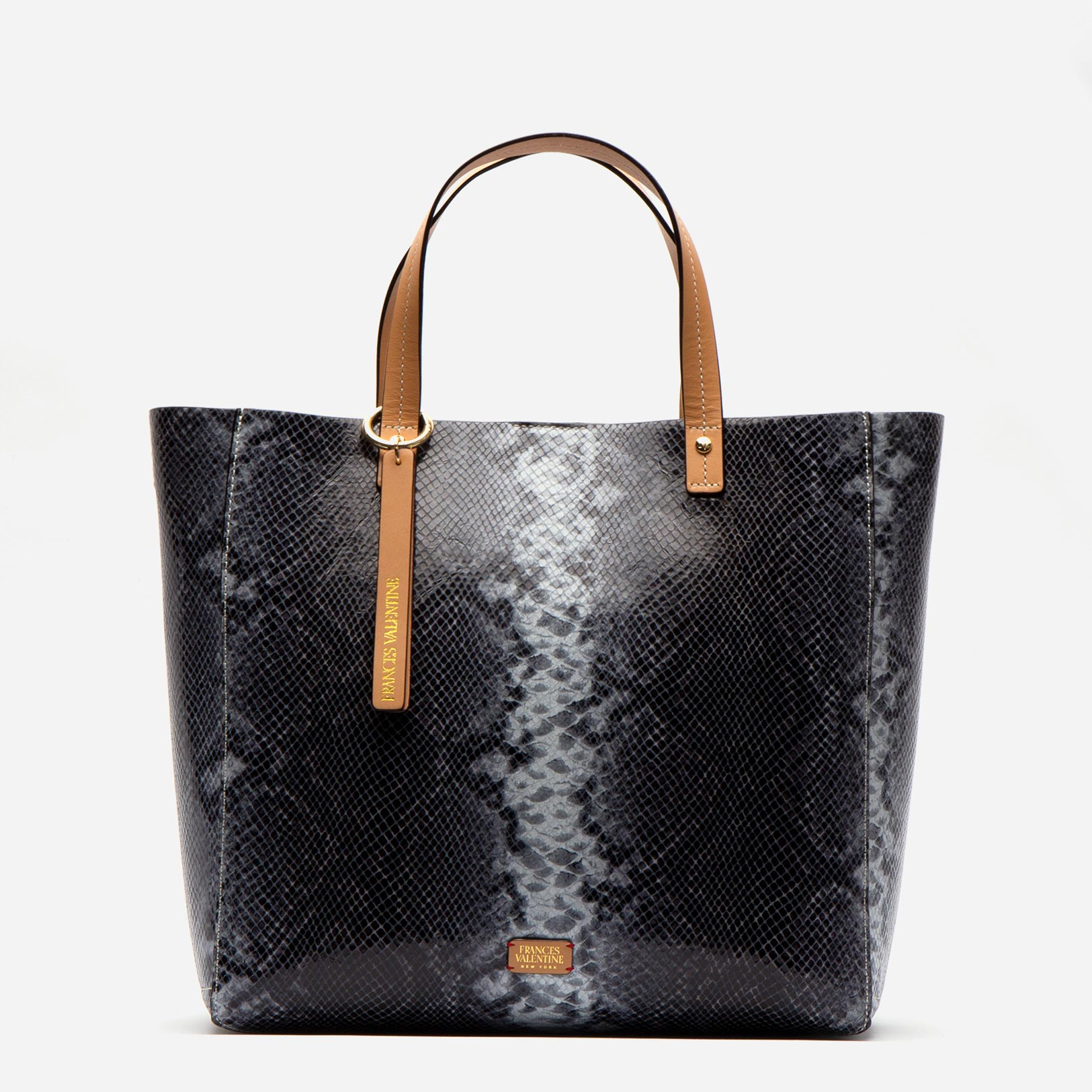Margaret Tote Striped Snake Leather Roccia
