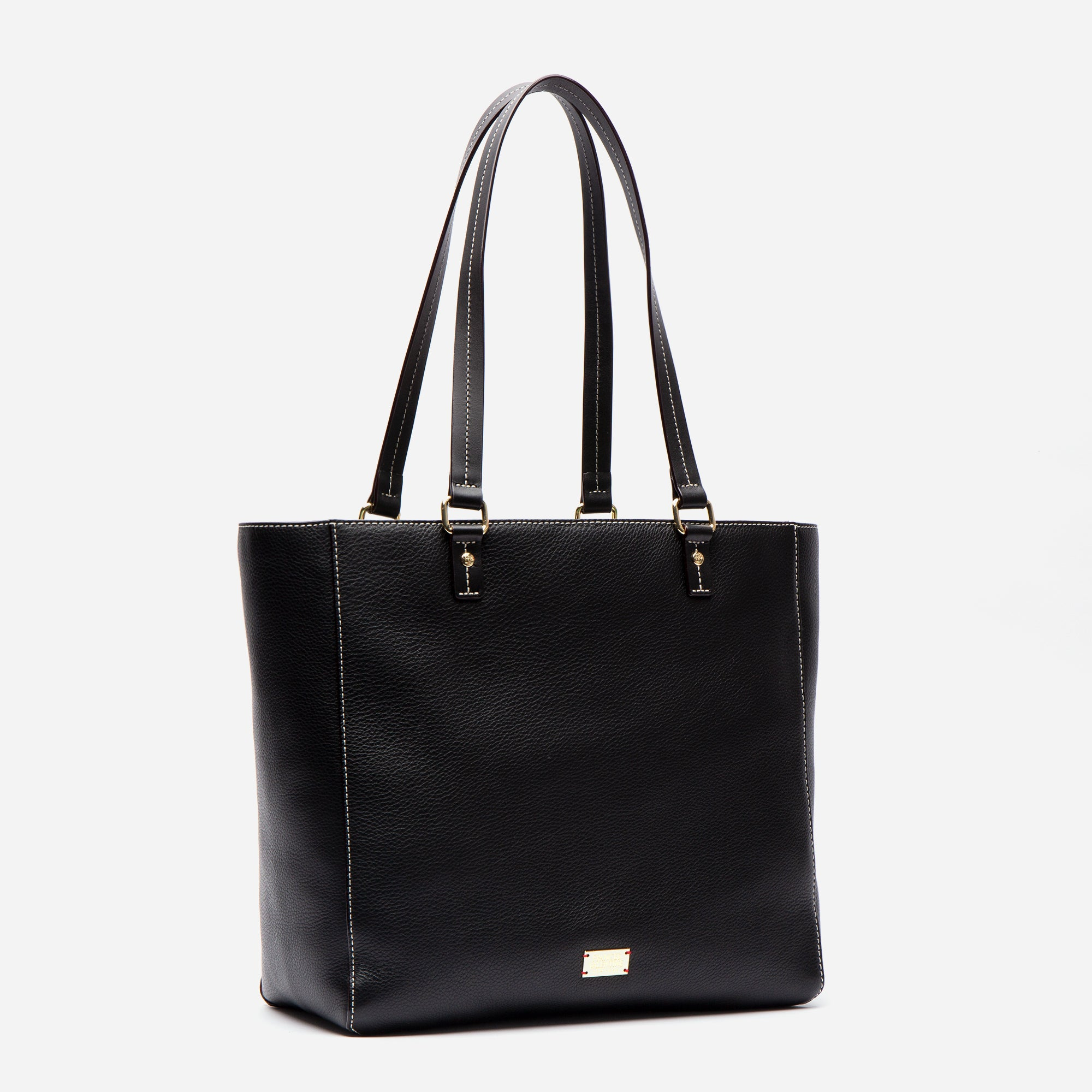 Margie Tote Tumbled Leather Black
