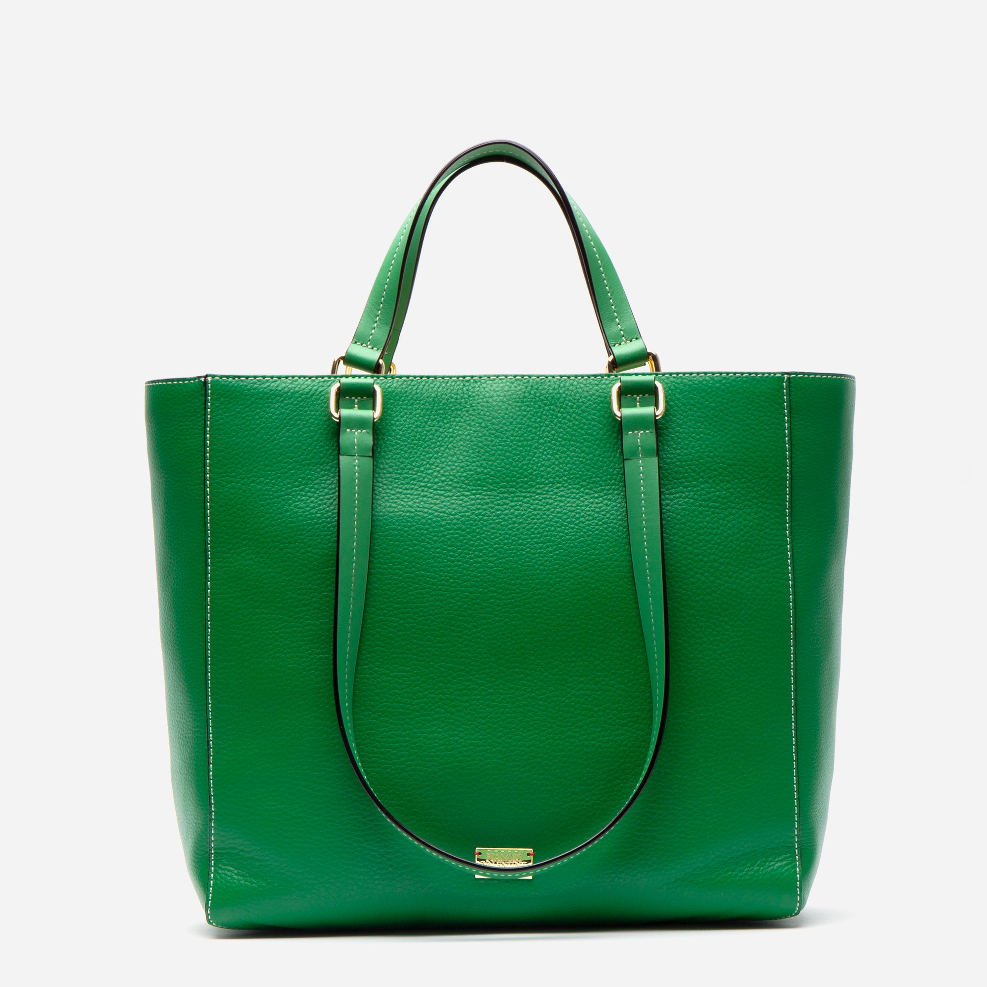 Margie Tote Tumbled Leather Green - Frances Valentine