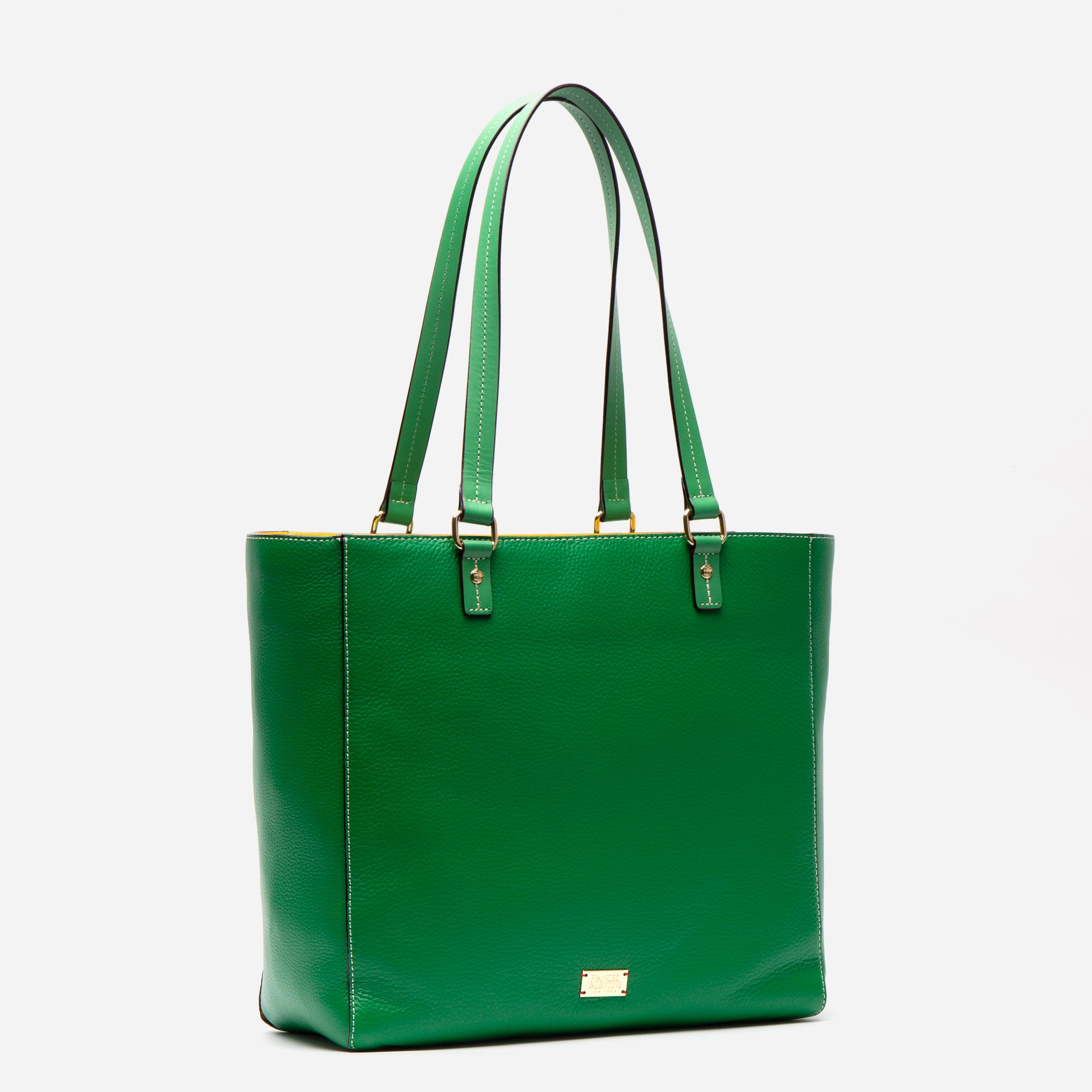 Margie Tote Tumbled Leather Green