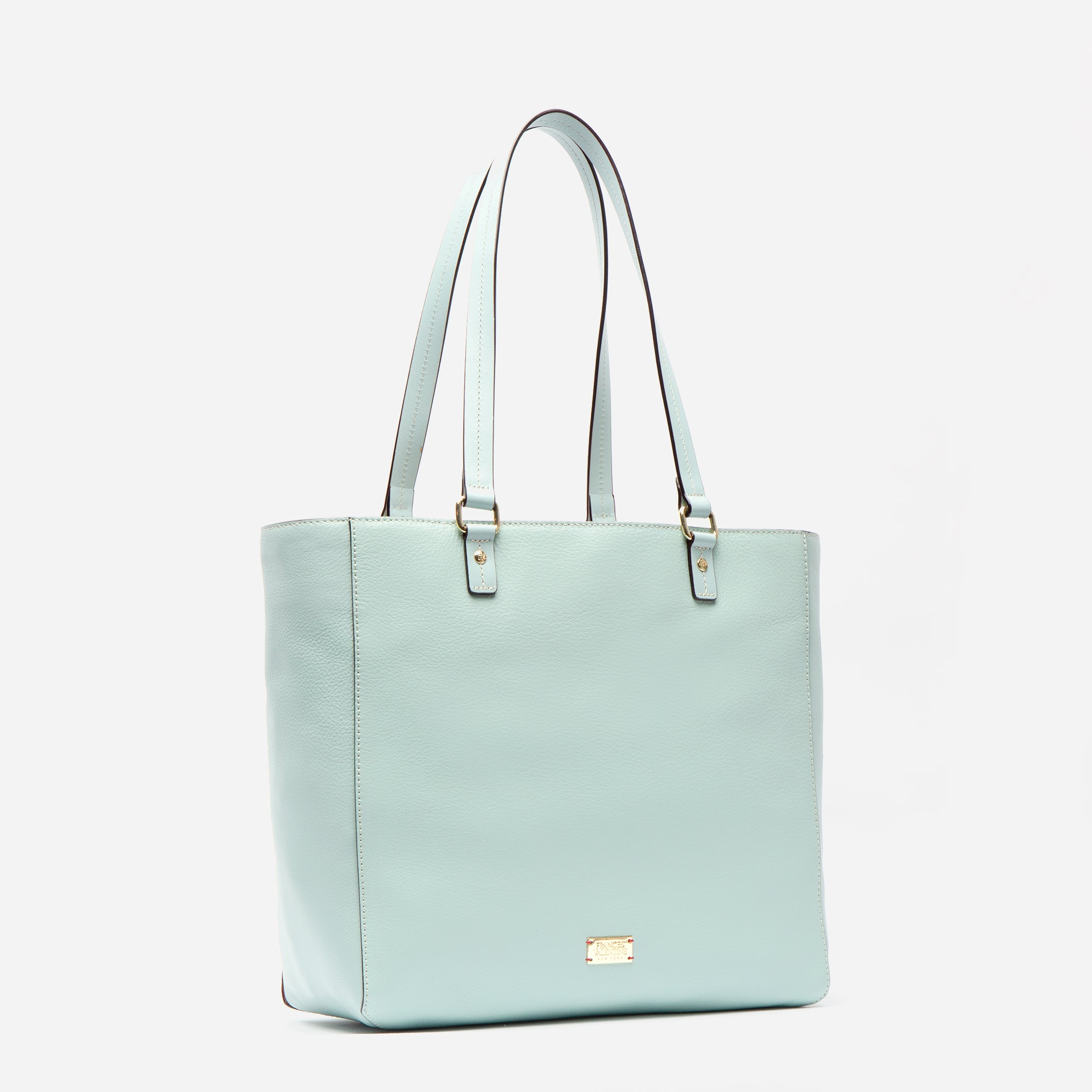 Margie Tote Tumbled Leather Light Blue
