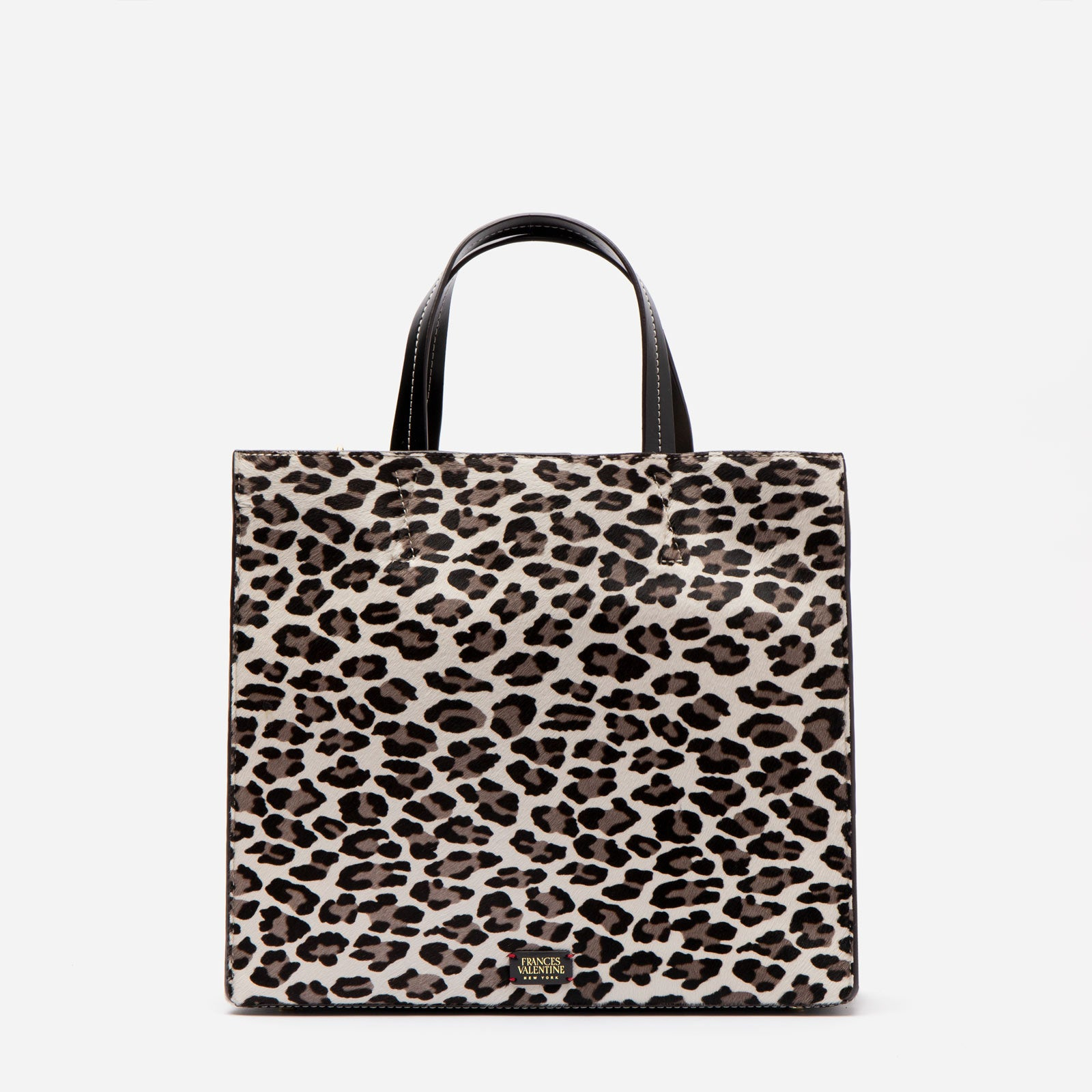 Margo Tote Printed Haircalf Snow Leopard - Frances Valentine