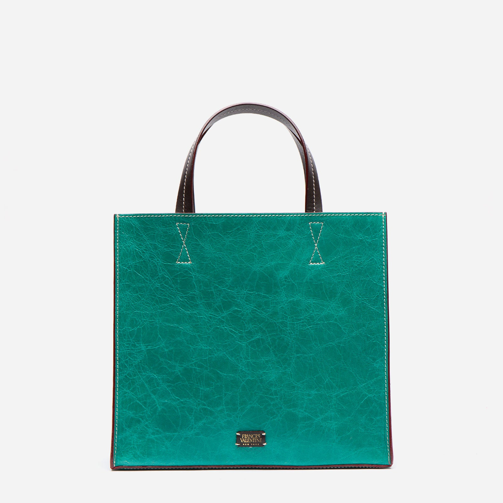 Margo Tote Naplak Leather Green Oyster - Frances Valentine