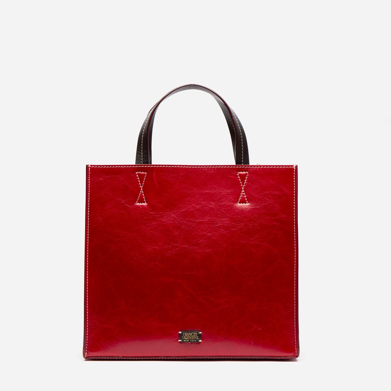 Margo Tote Naplak Leather Red Pink - Frances Valentine