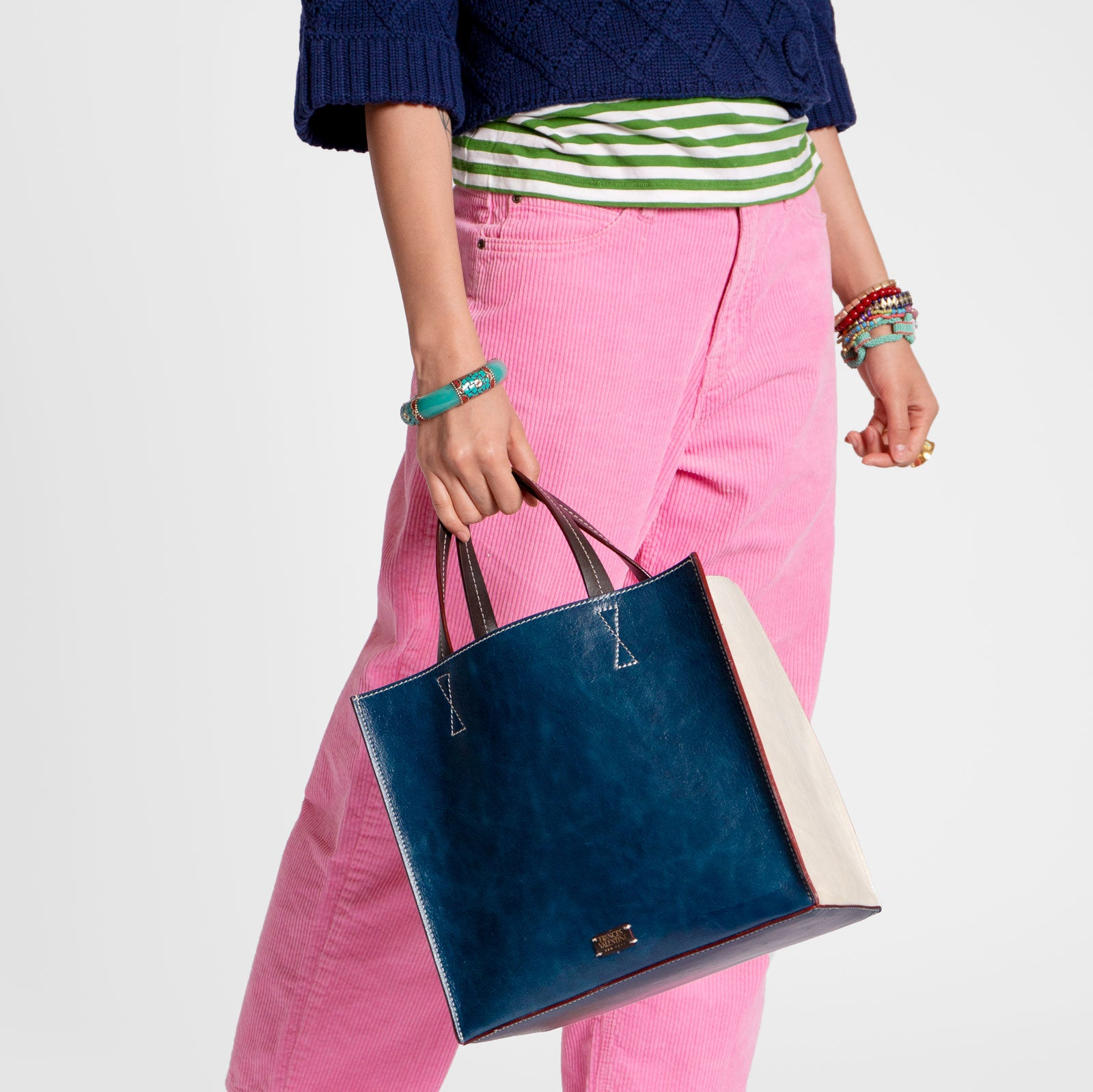 Margo Tote Naplak Leather Navy Oyster