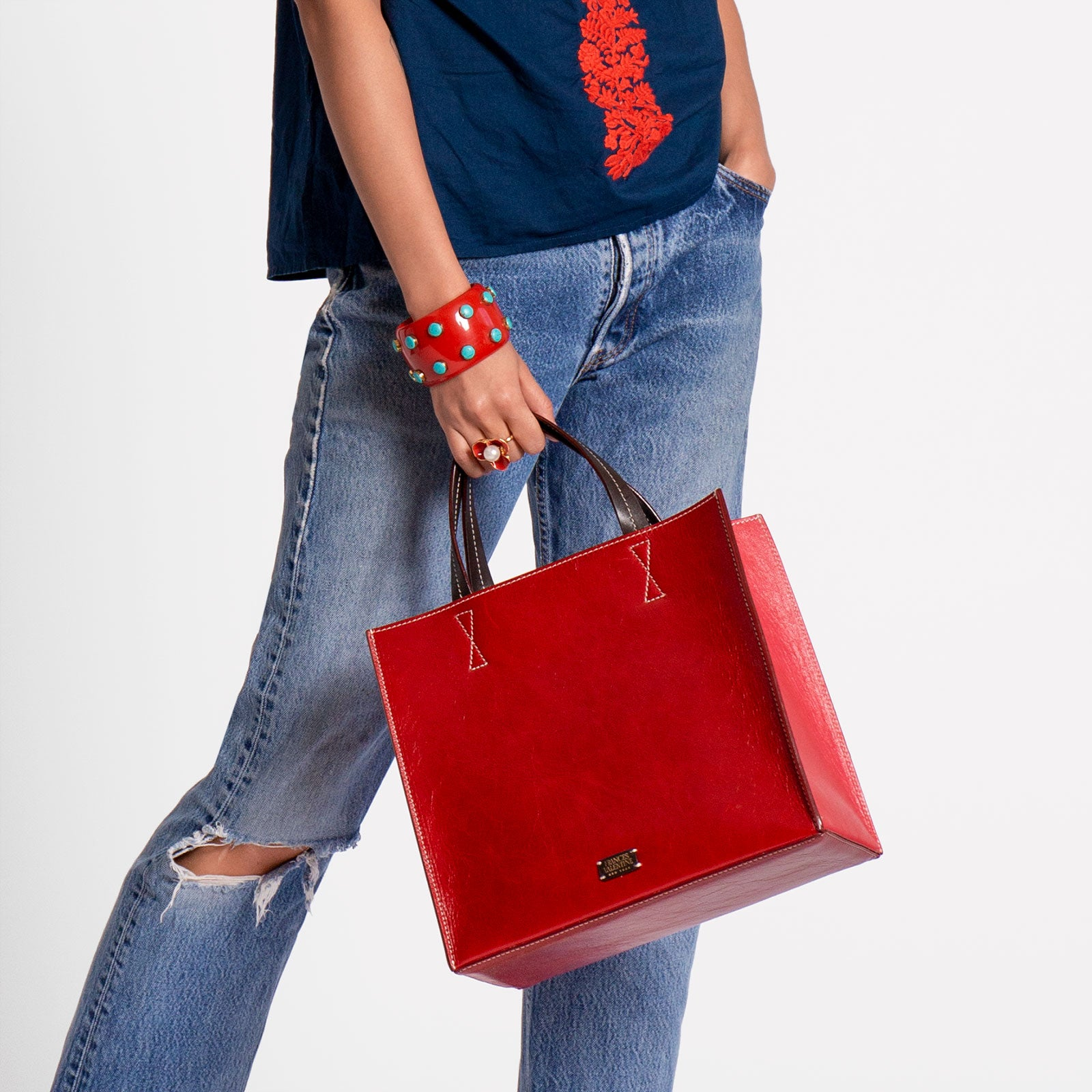 Margo Tote Naplak Leather Red Pink