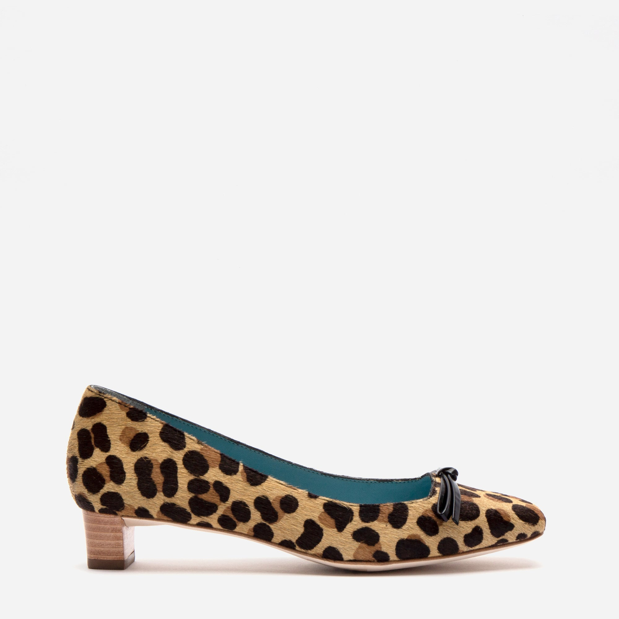 Mary Mini Block Heel Leopard