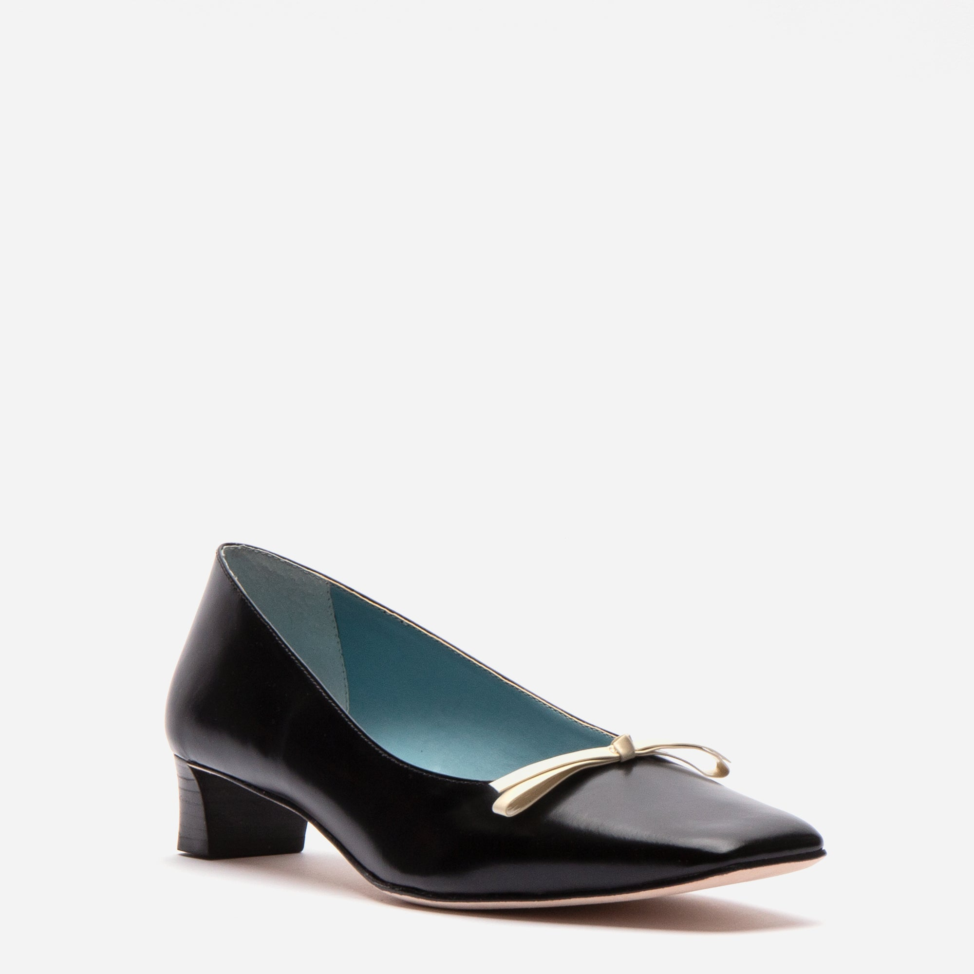 Mary Mini Block Heel Spazzalato Black Oyster