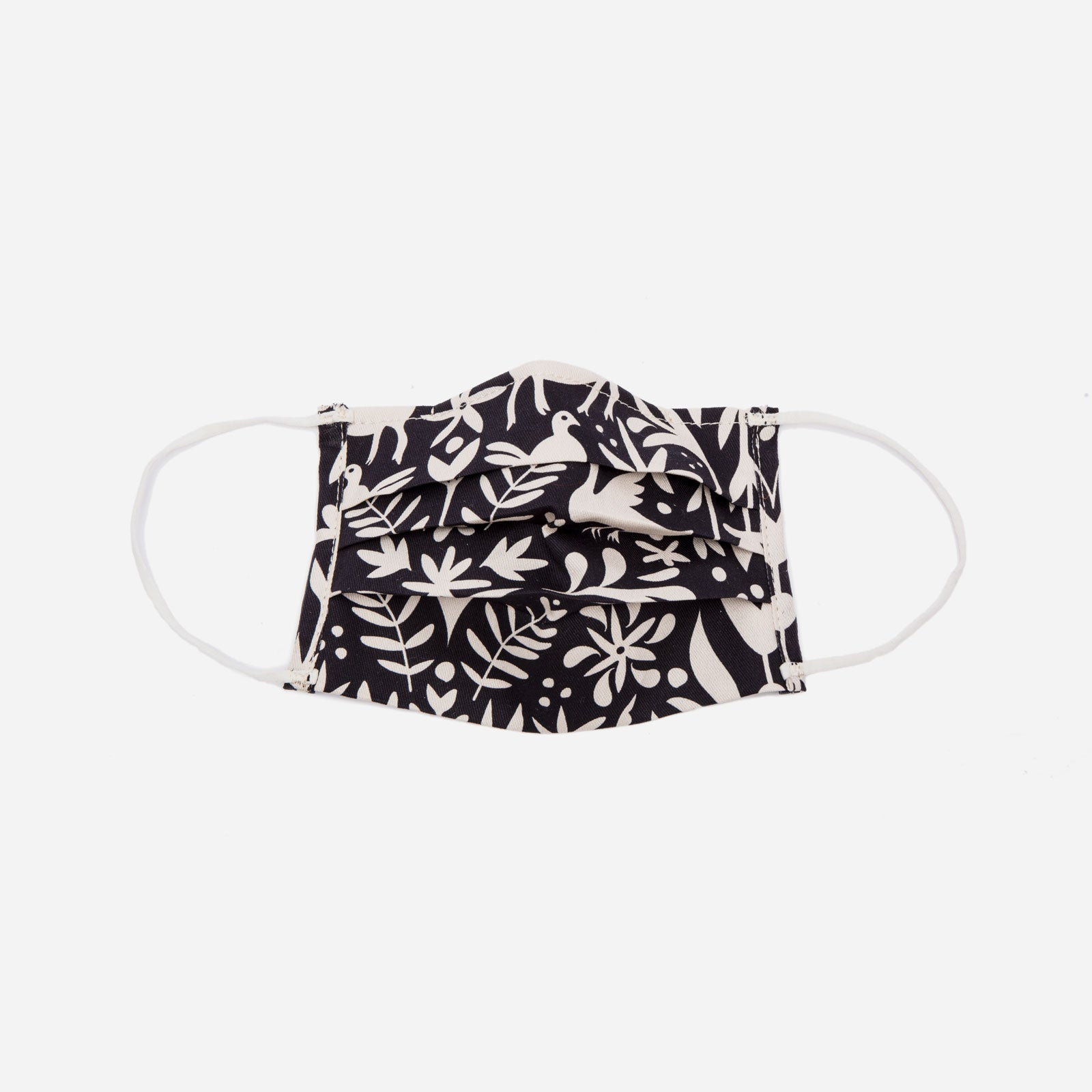 Folded Mask Veracruz Print Black