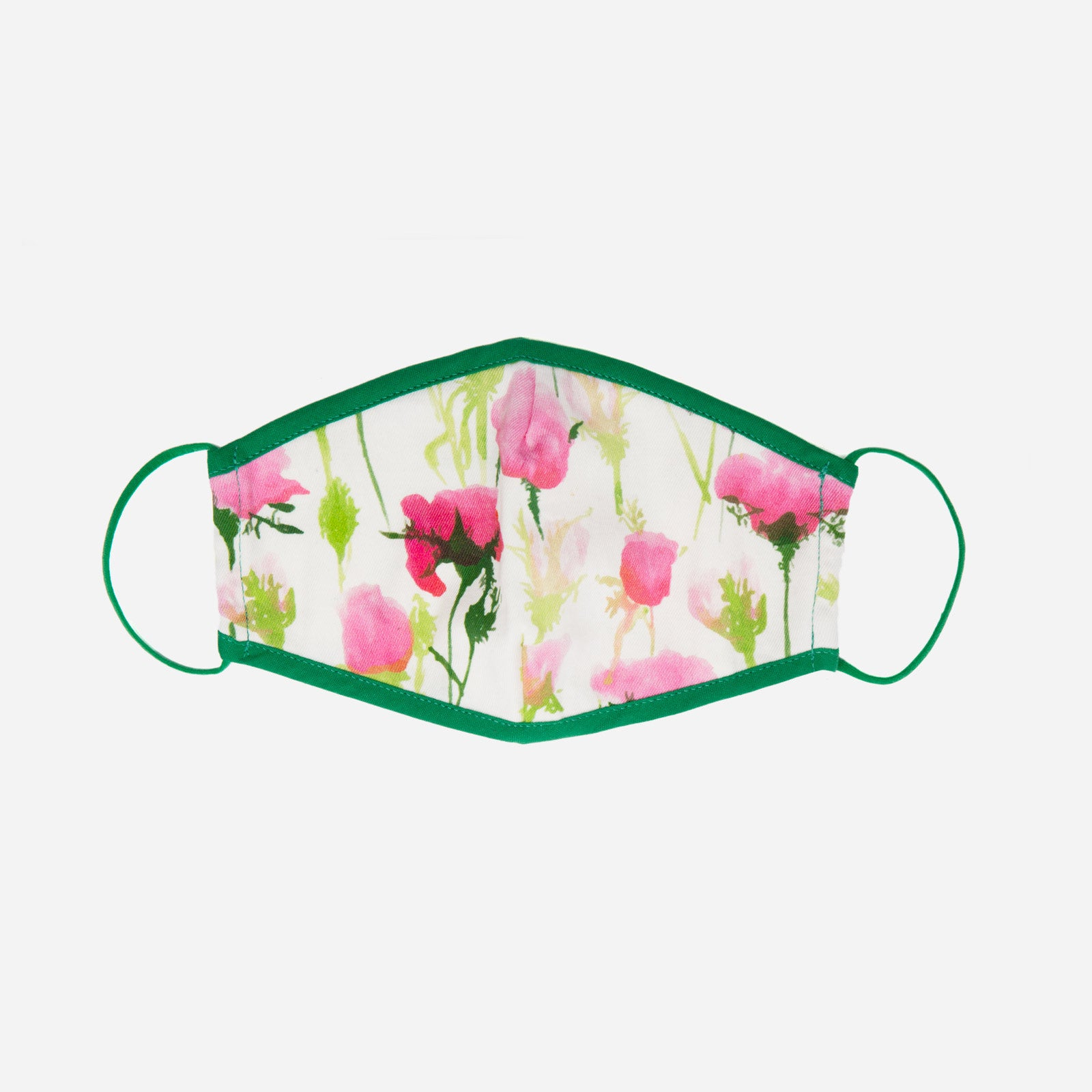 Fitted Mask Rose Print - Frances Valentine