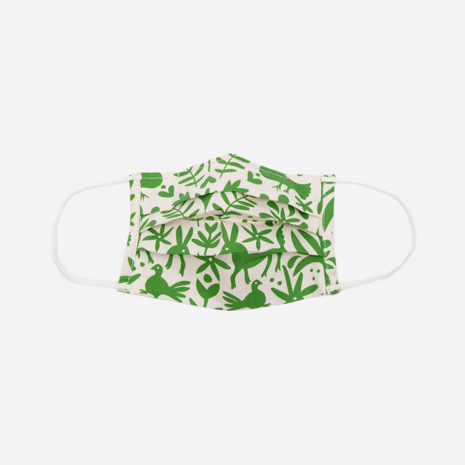 Folded Mask Veracruz Print Green