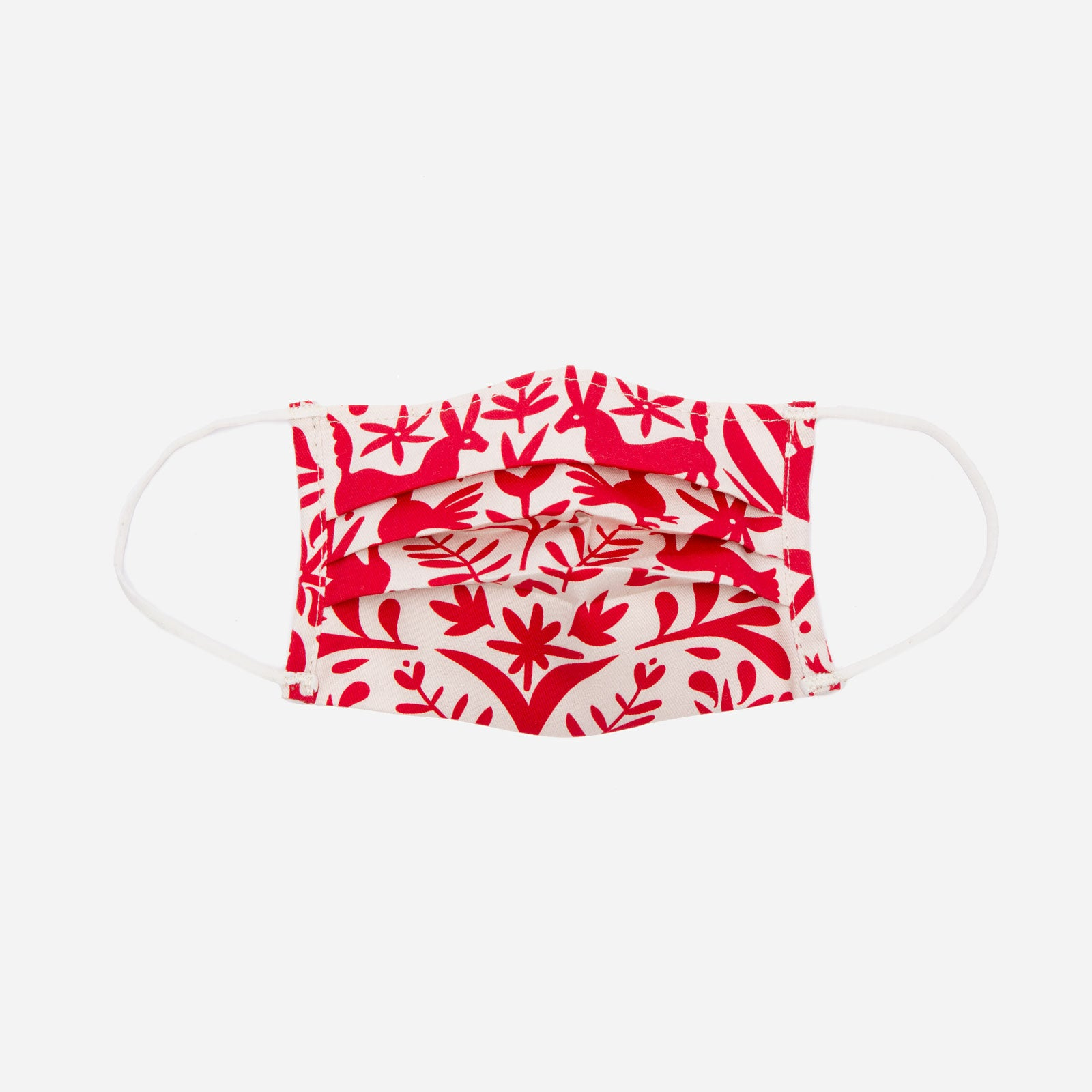 Folded Mask Veracruz Print Red