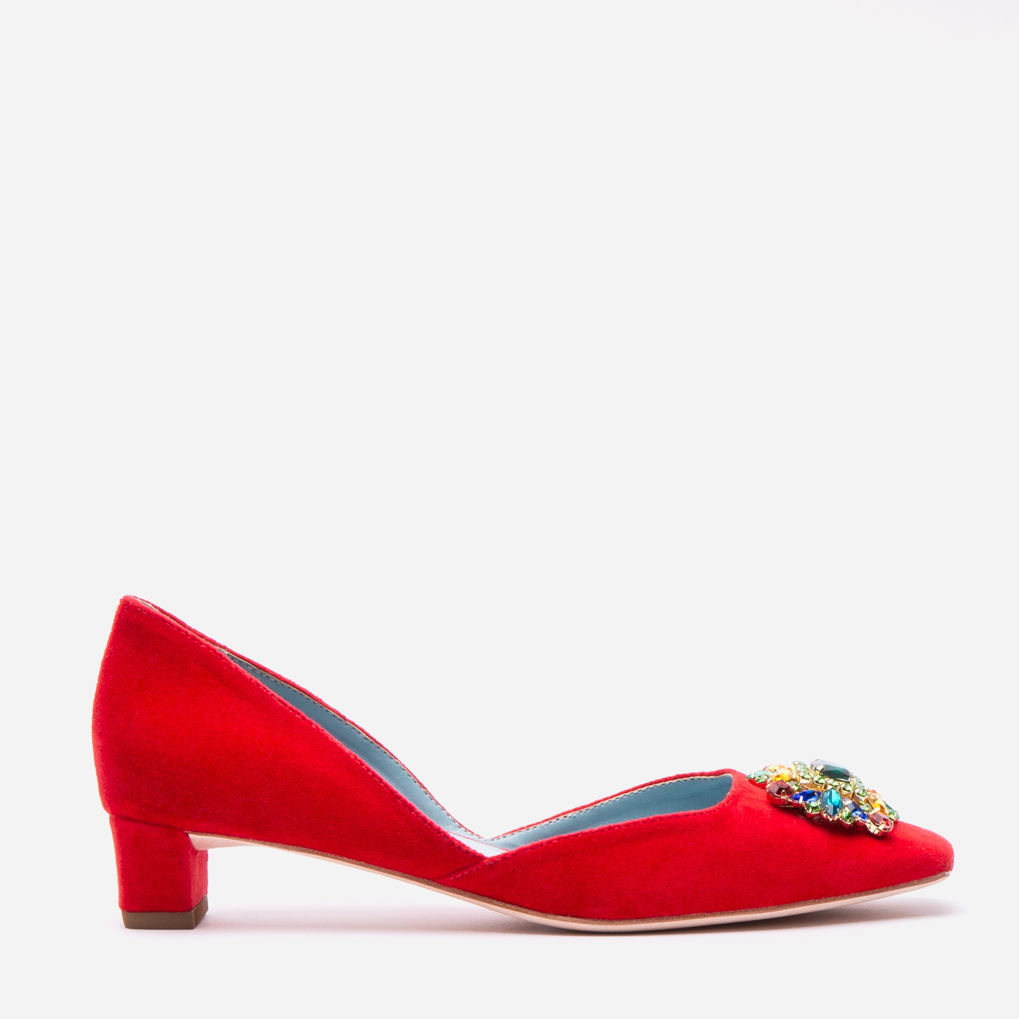 McCall Stacked Heel D'Orsay Red Velvet