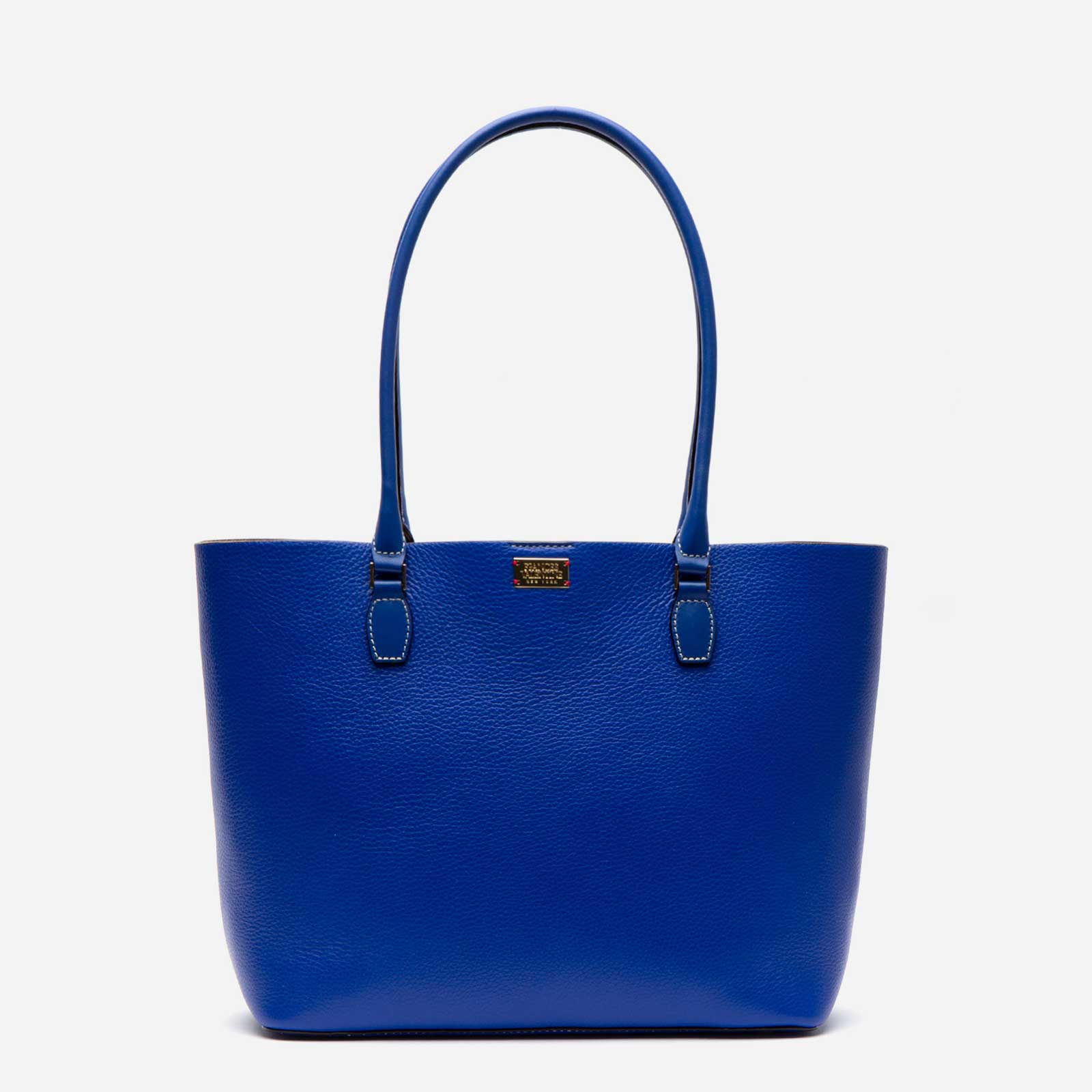 Medium Trixie Tumbled Leather Tote Royal