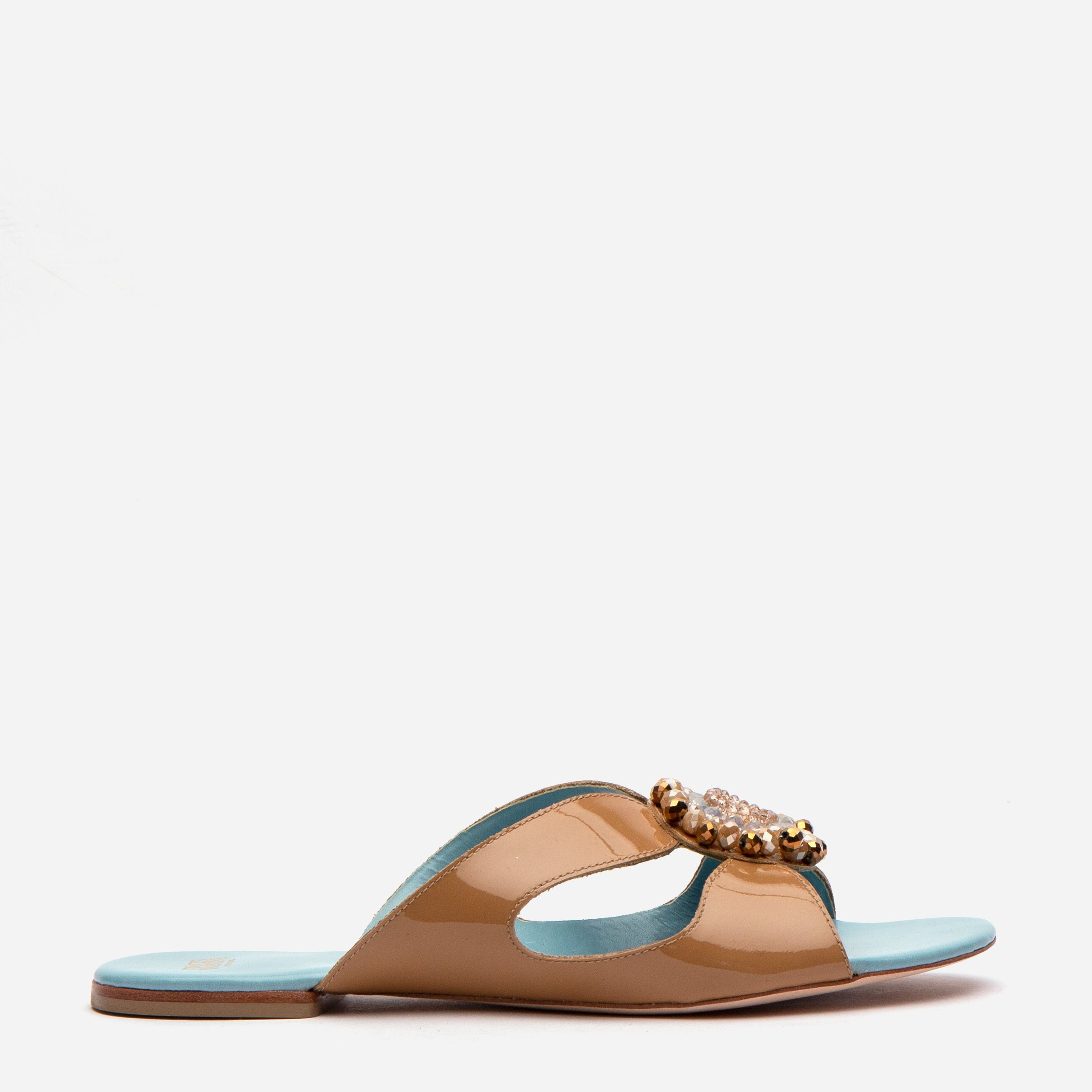 Meredith Slide Jewel Flowers Camel