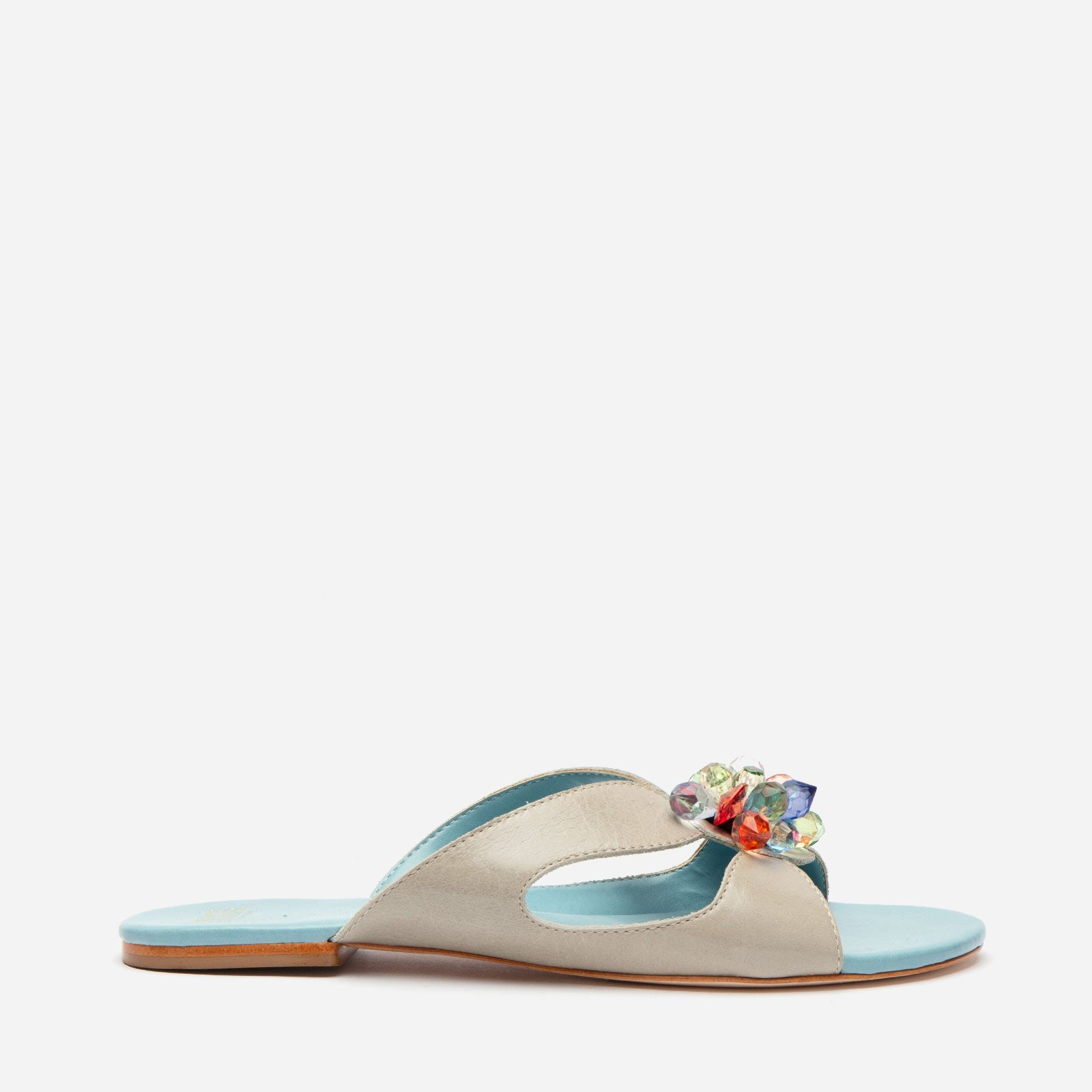 Meredith Slide Jewel Flowers Oyster