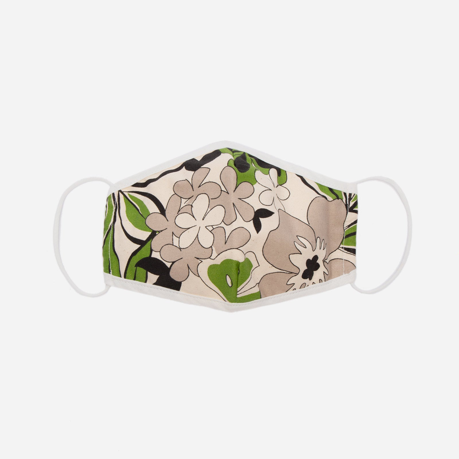 Fitted Mask Merida Leaf Print - Frances Valentine