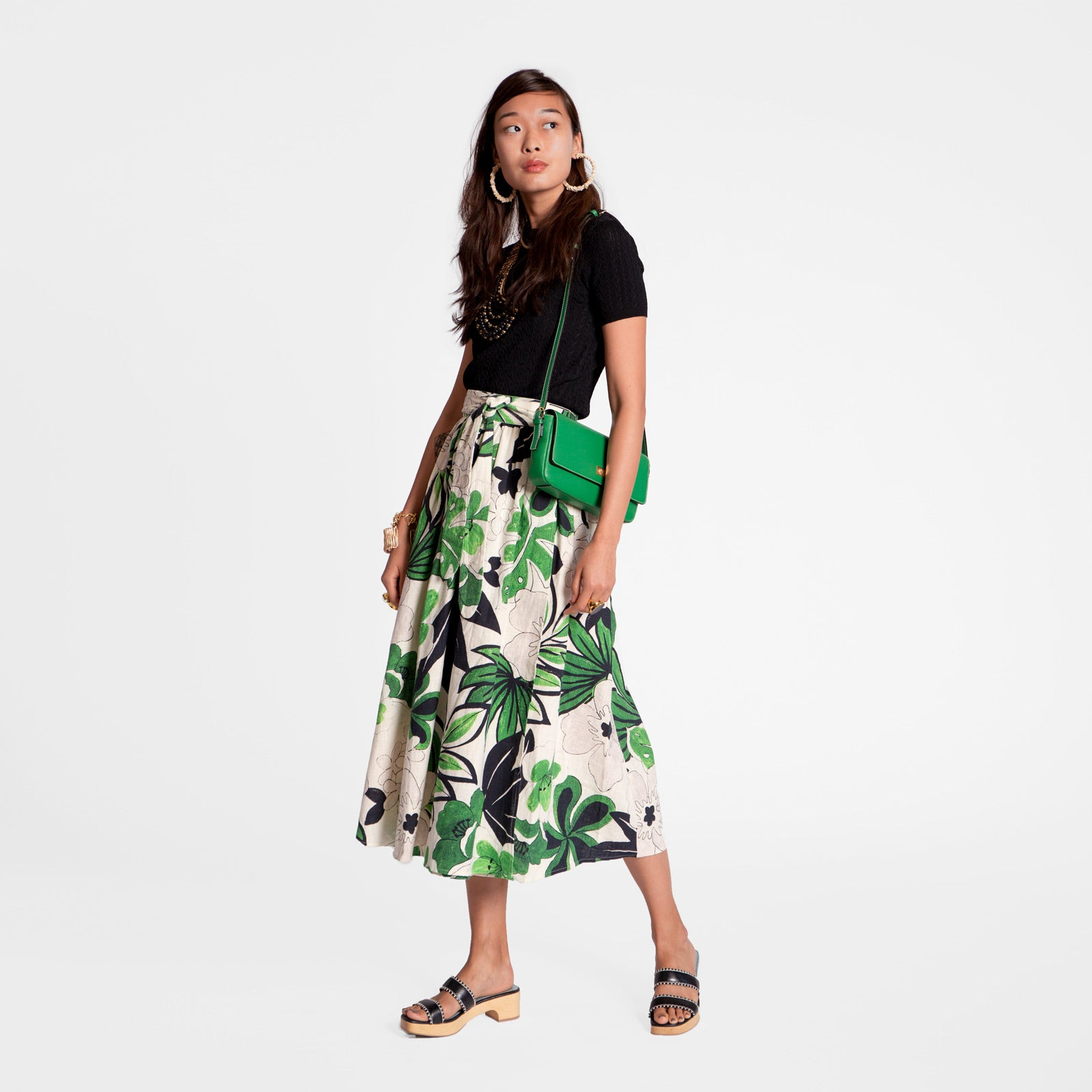 Wrap Skirt Merida Leaf