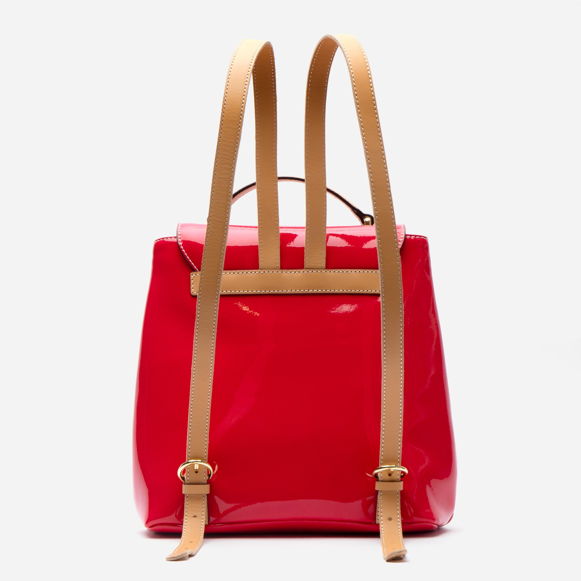 Midge Backpack Soft Patent Red