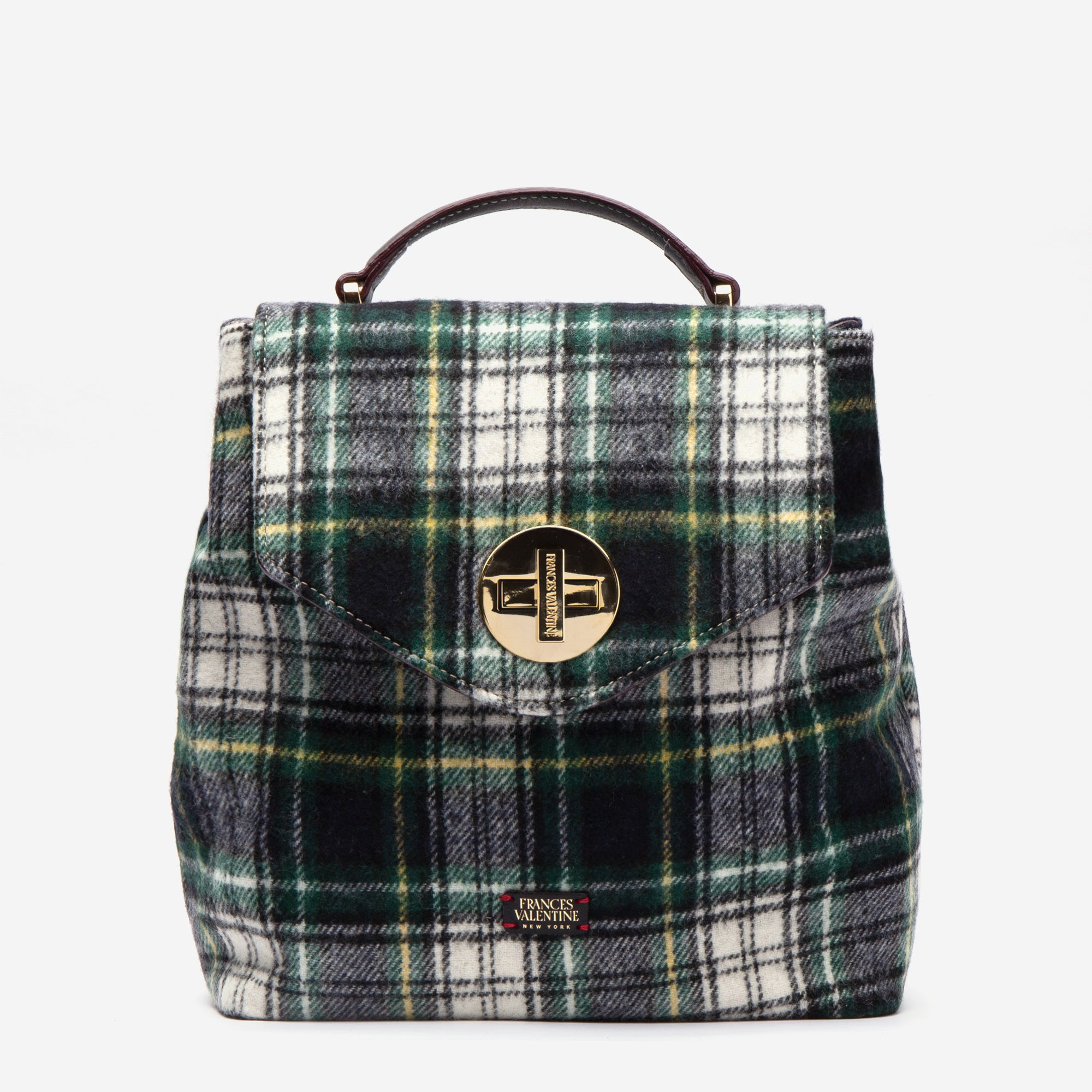 Midge Backpack Plaid Wool - Frances Valentine