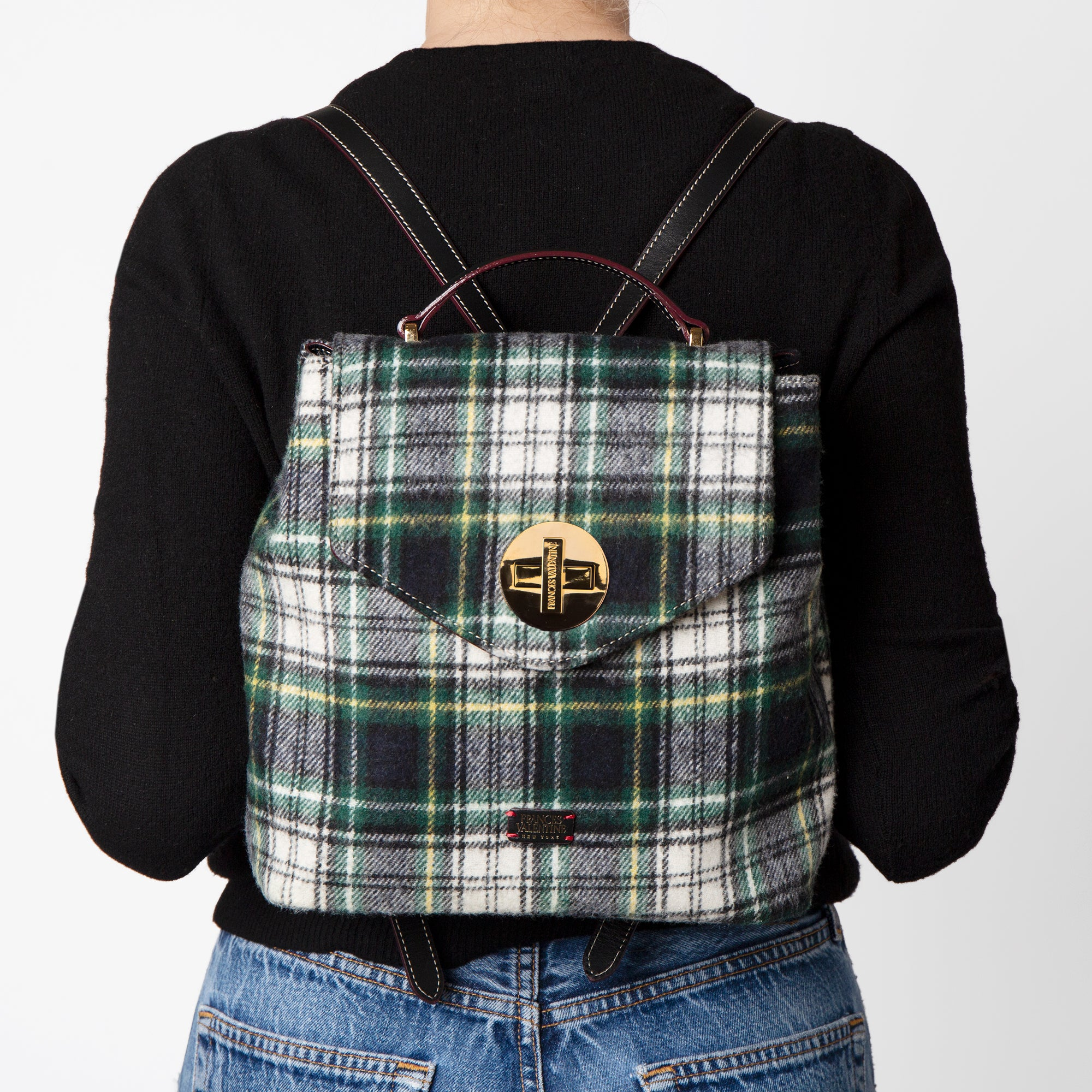 Midge Backpack Plaid Wool
