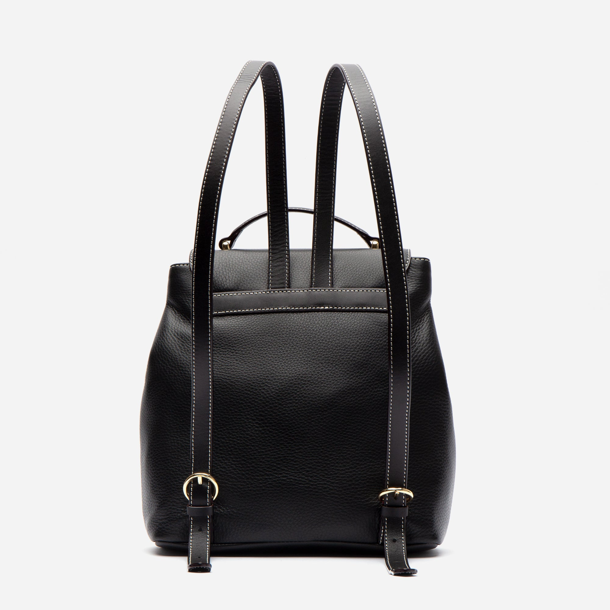 Midge Backpack Tumbled Leather Black