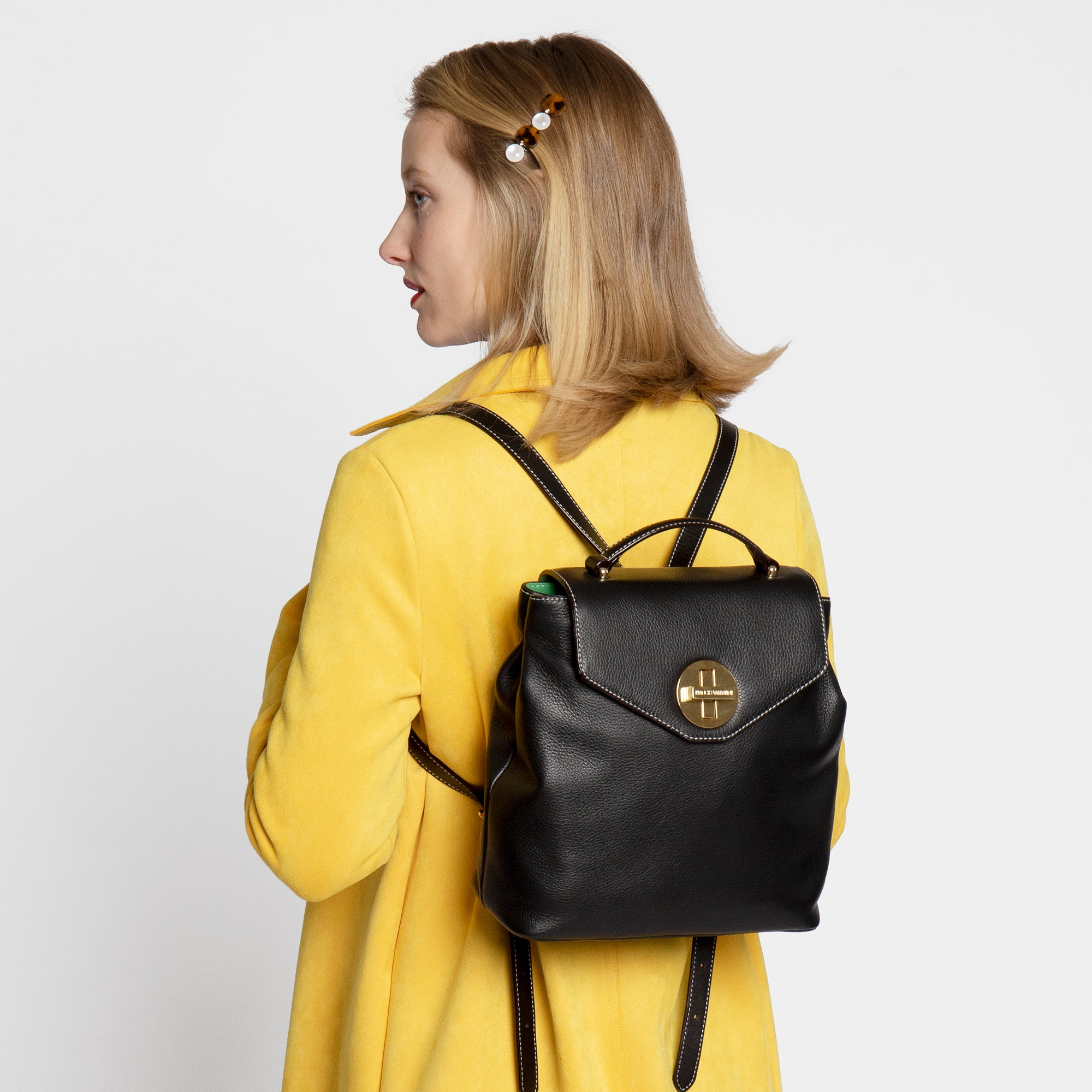 Midge Backpack Tumbled Leather Oyster