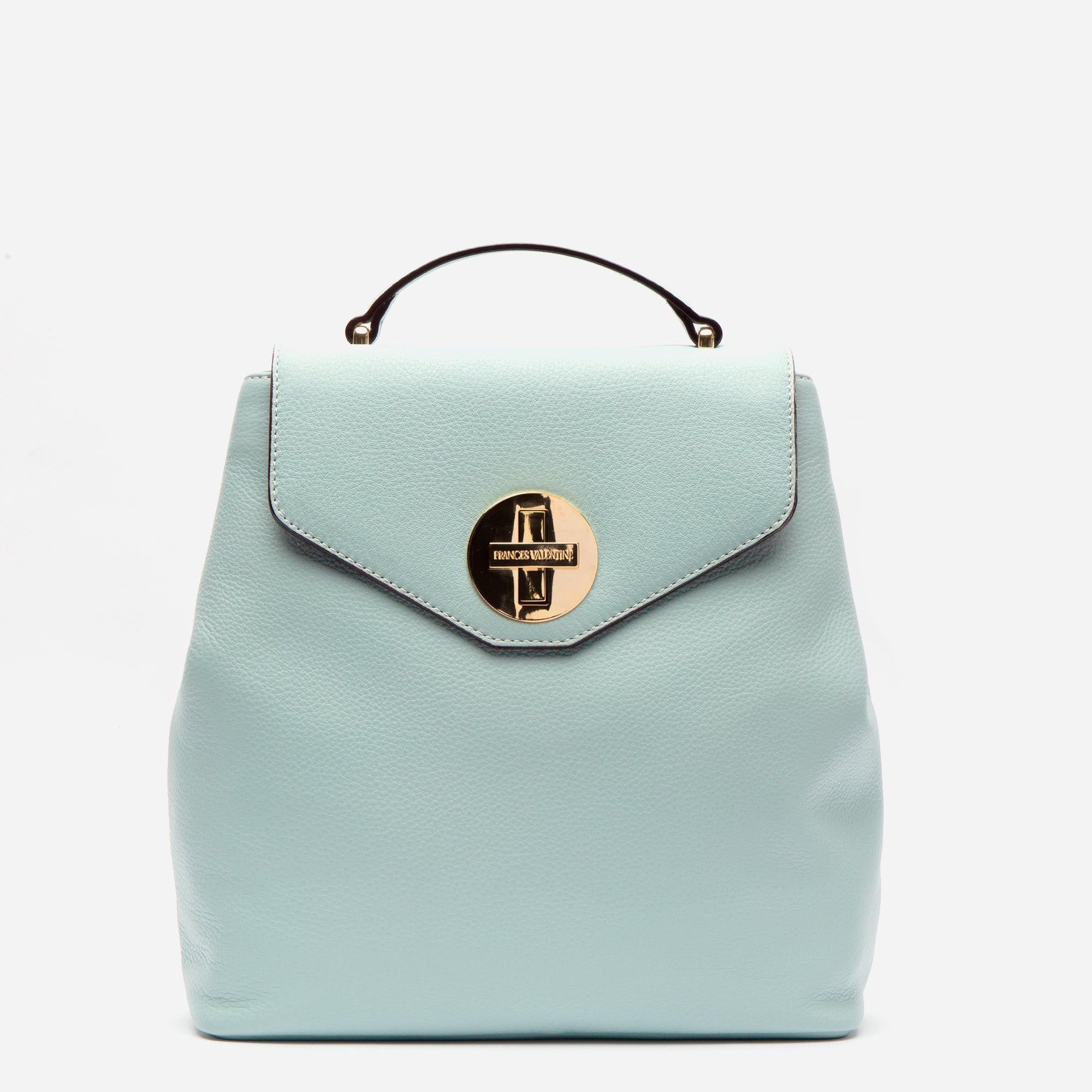 Midge Backpack Tumbled Leather Light Blue - Frances Valentine