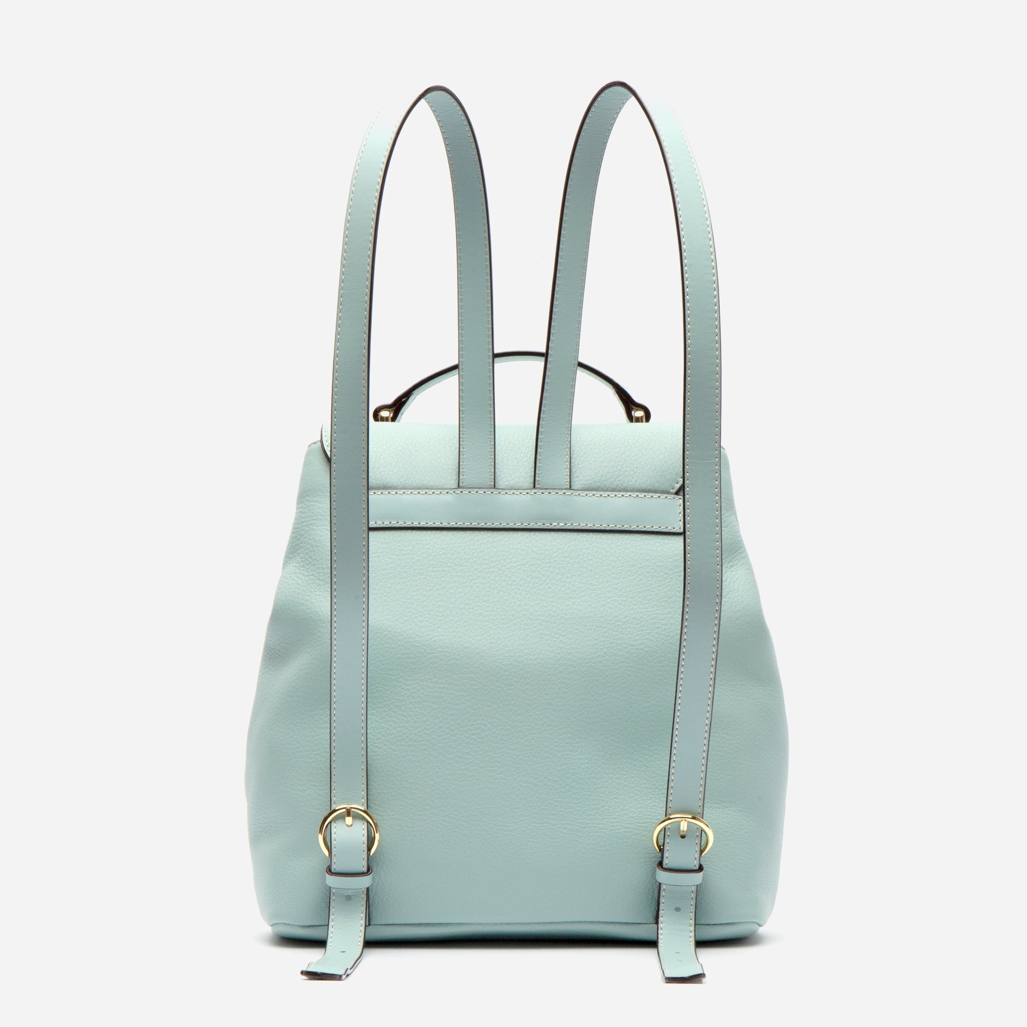Midge Backpack Tumbled Leather Light Blue