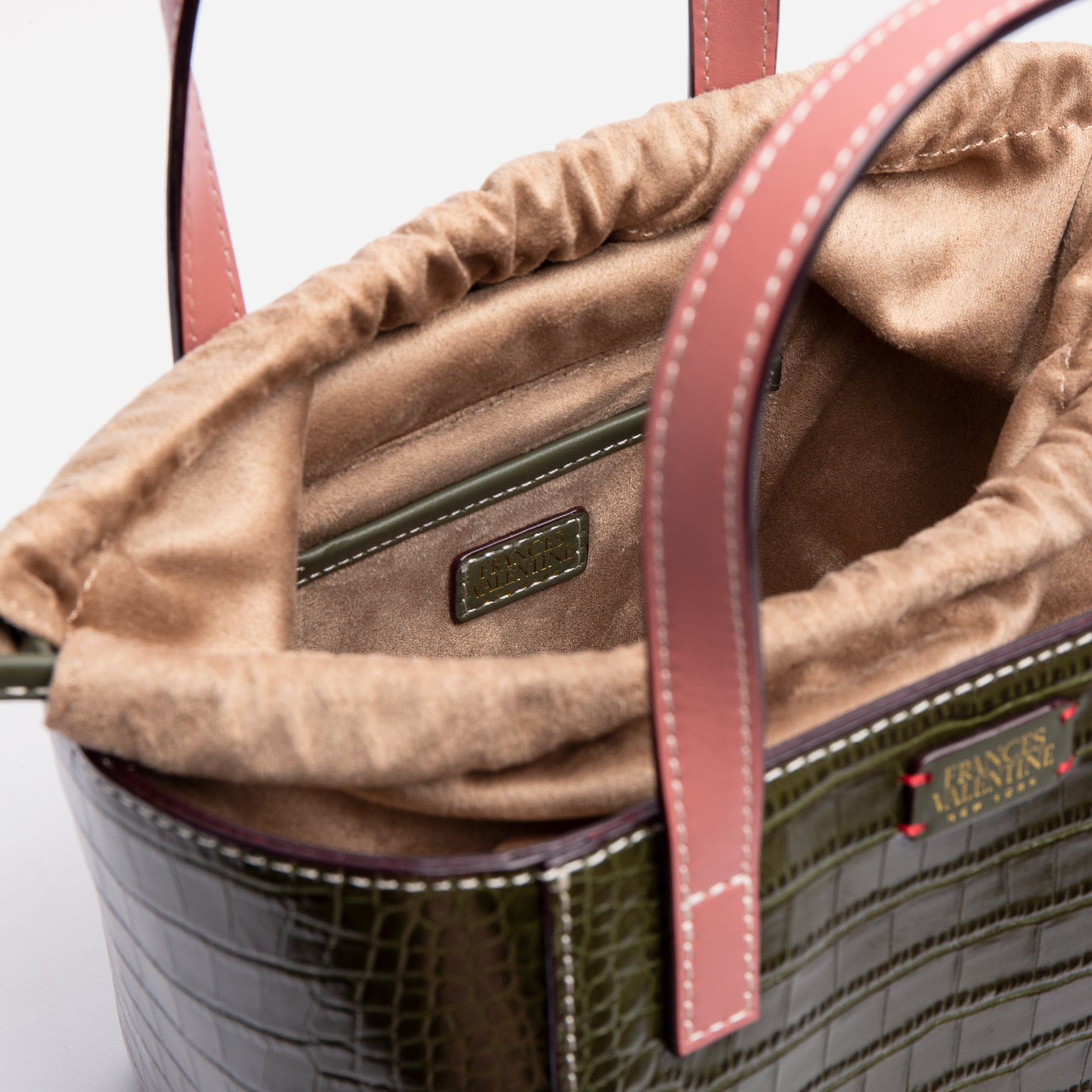 Moxy Cube Tote Croc Embossed Olive