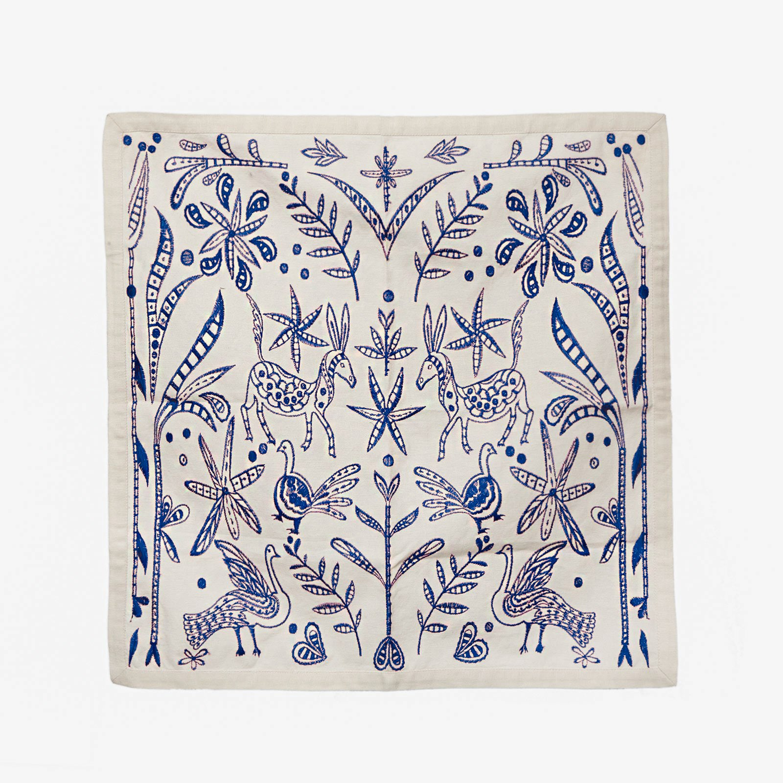 Embroidered Napkin Set Veracruz Blue
