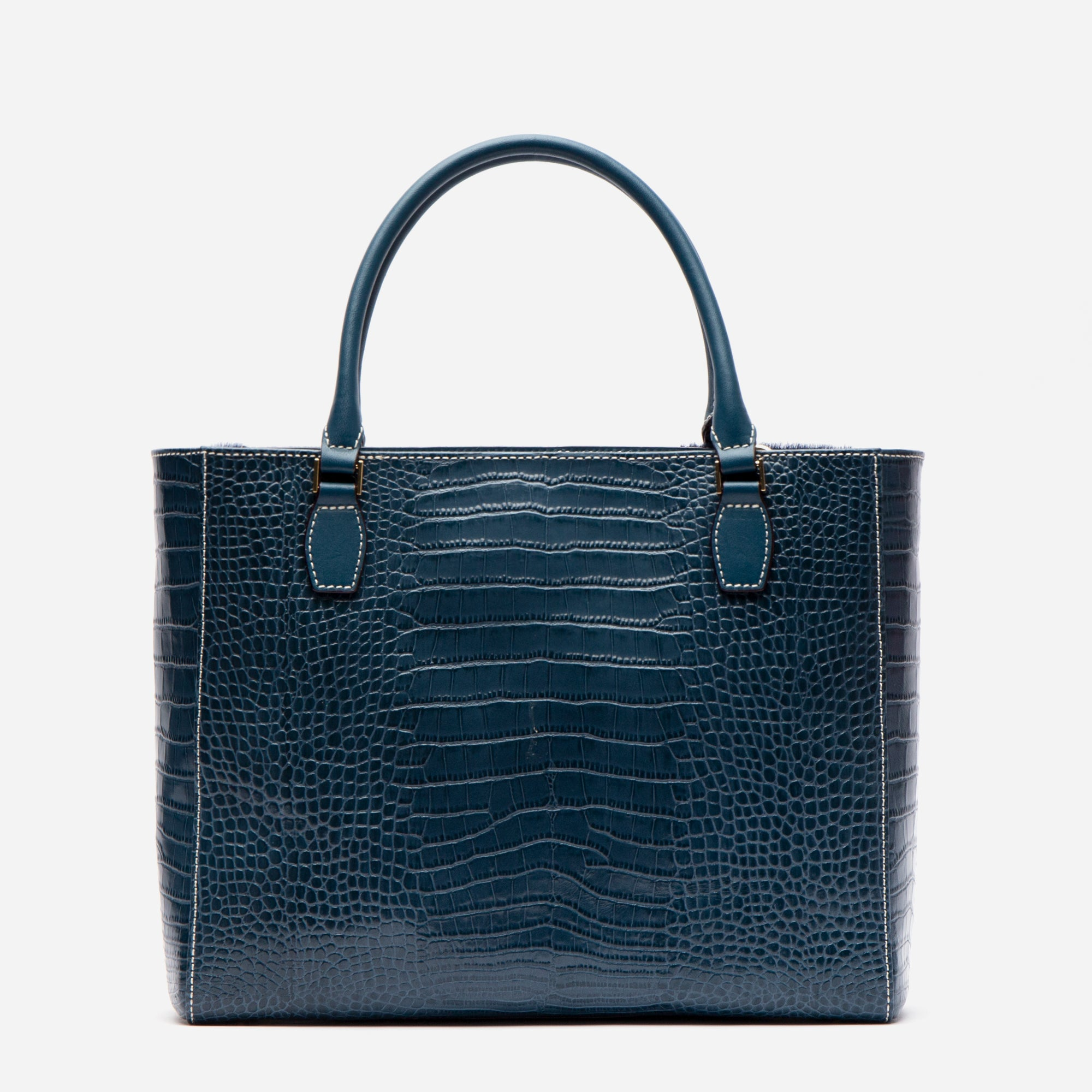 Olivia Mixed Media Tote Blue