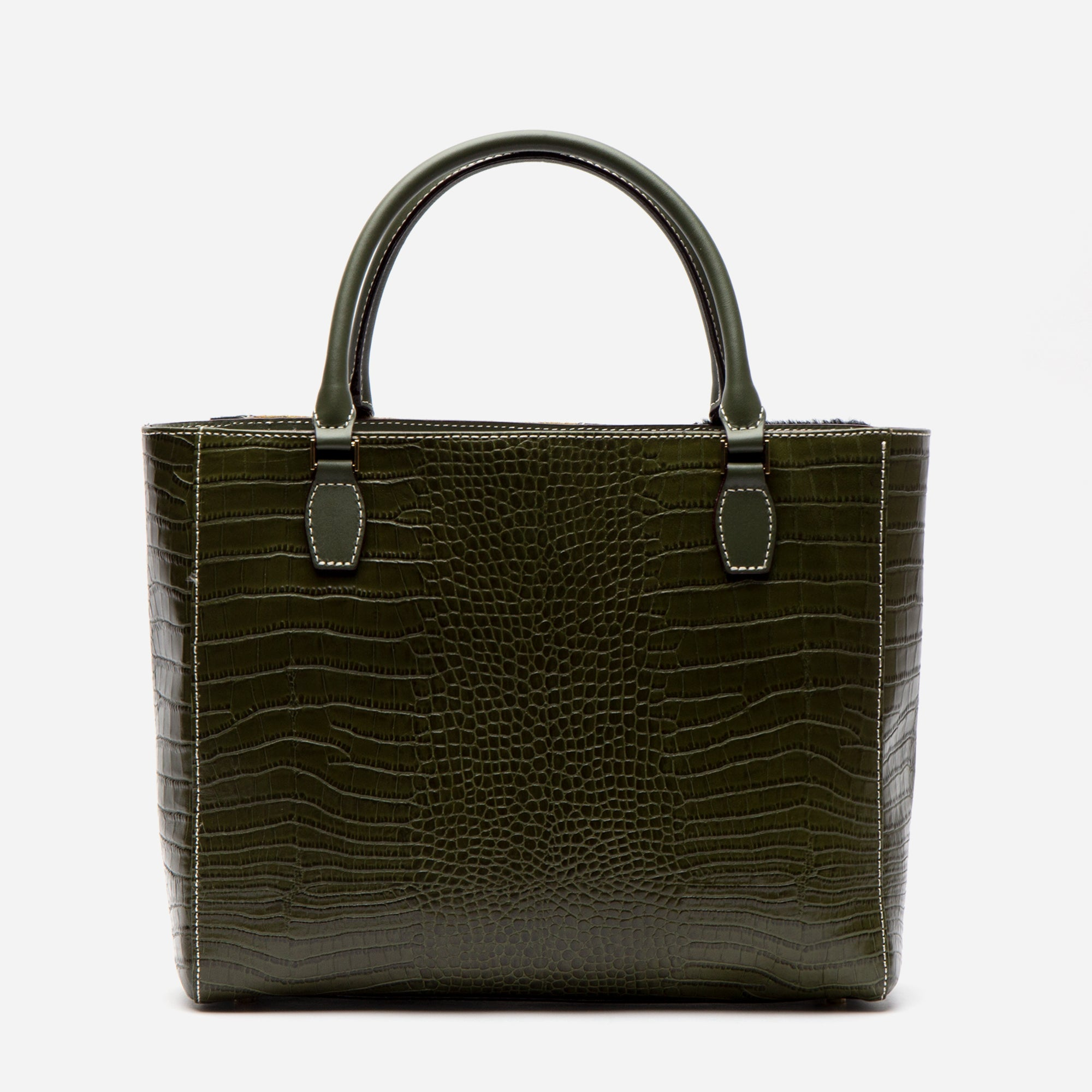 Olivia Mixed Media Tote Olive