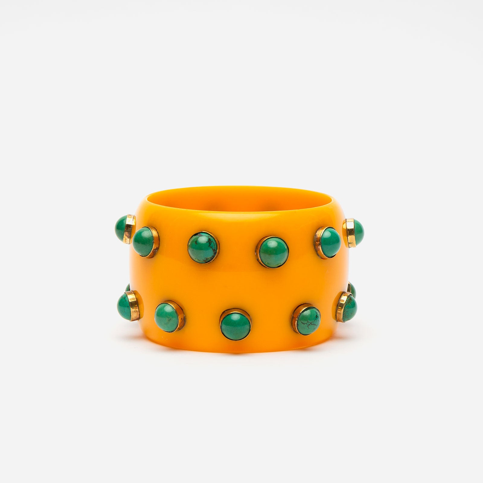 Kollam Bangle Bracelet Yellow - Frances Valentine
