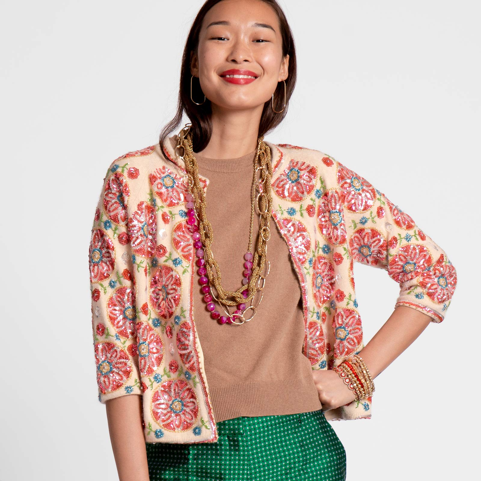 Oslo Beaded Cardi Coat - Frances Valentine