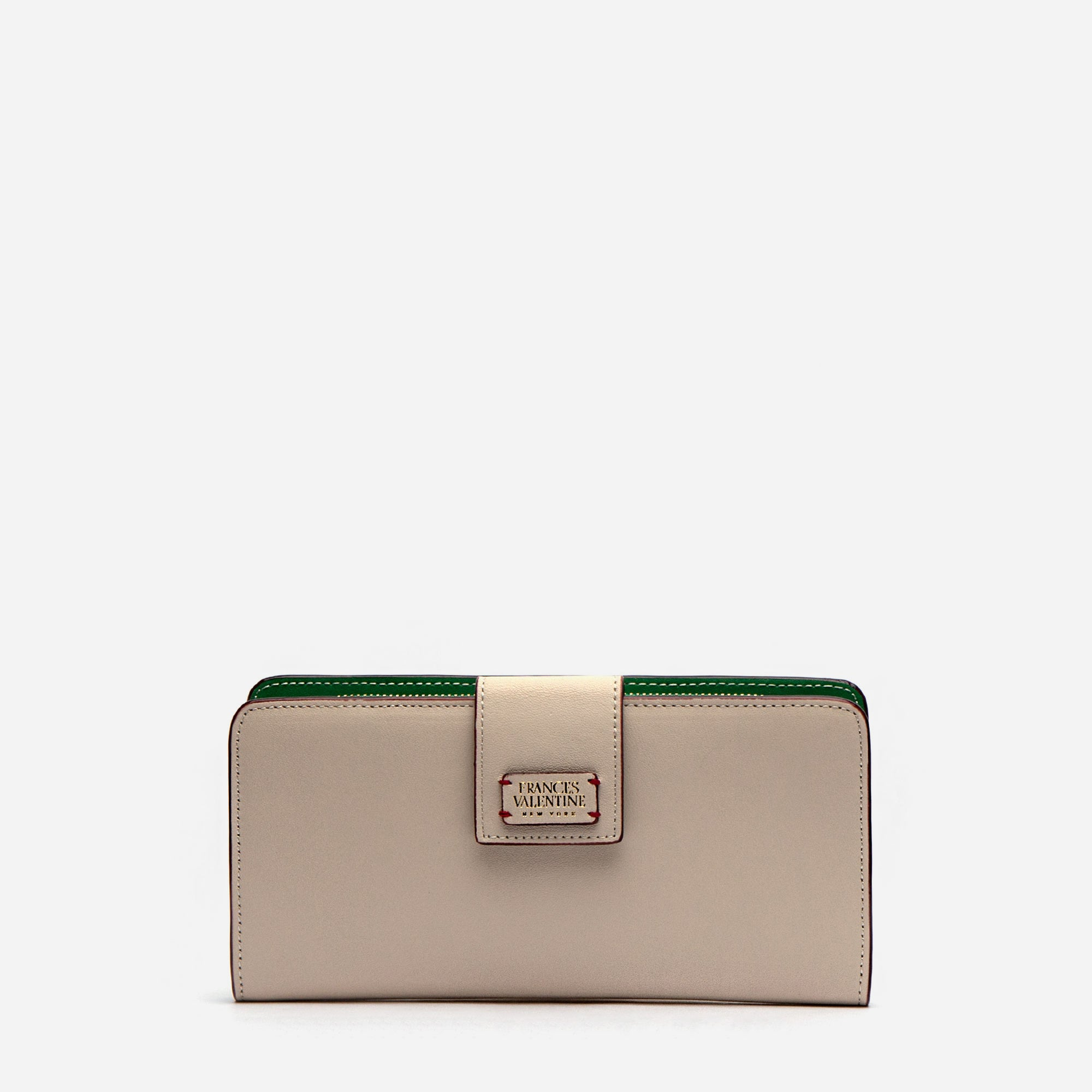 Jefferson Slim Wallet Oyster Green - Frances Valentine