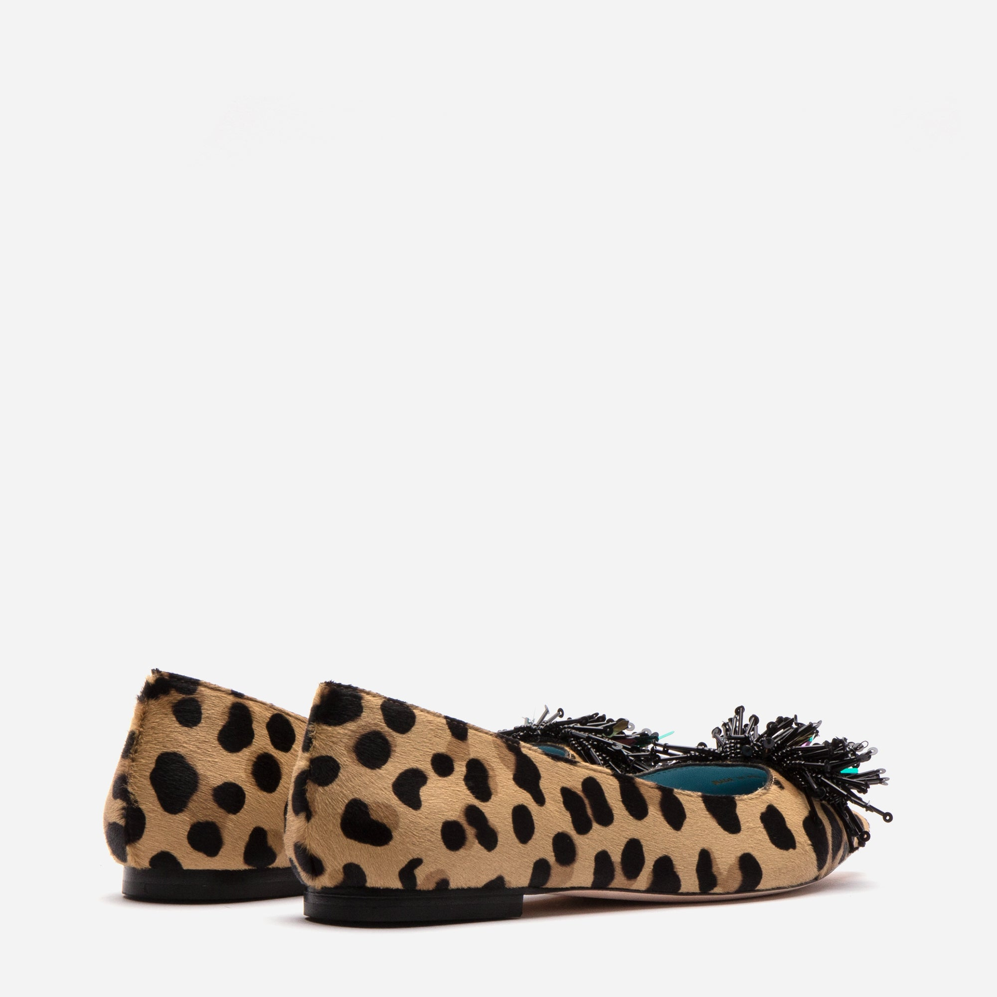 Paige Fringe Flats Leopard Printed Haircalf