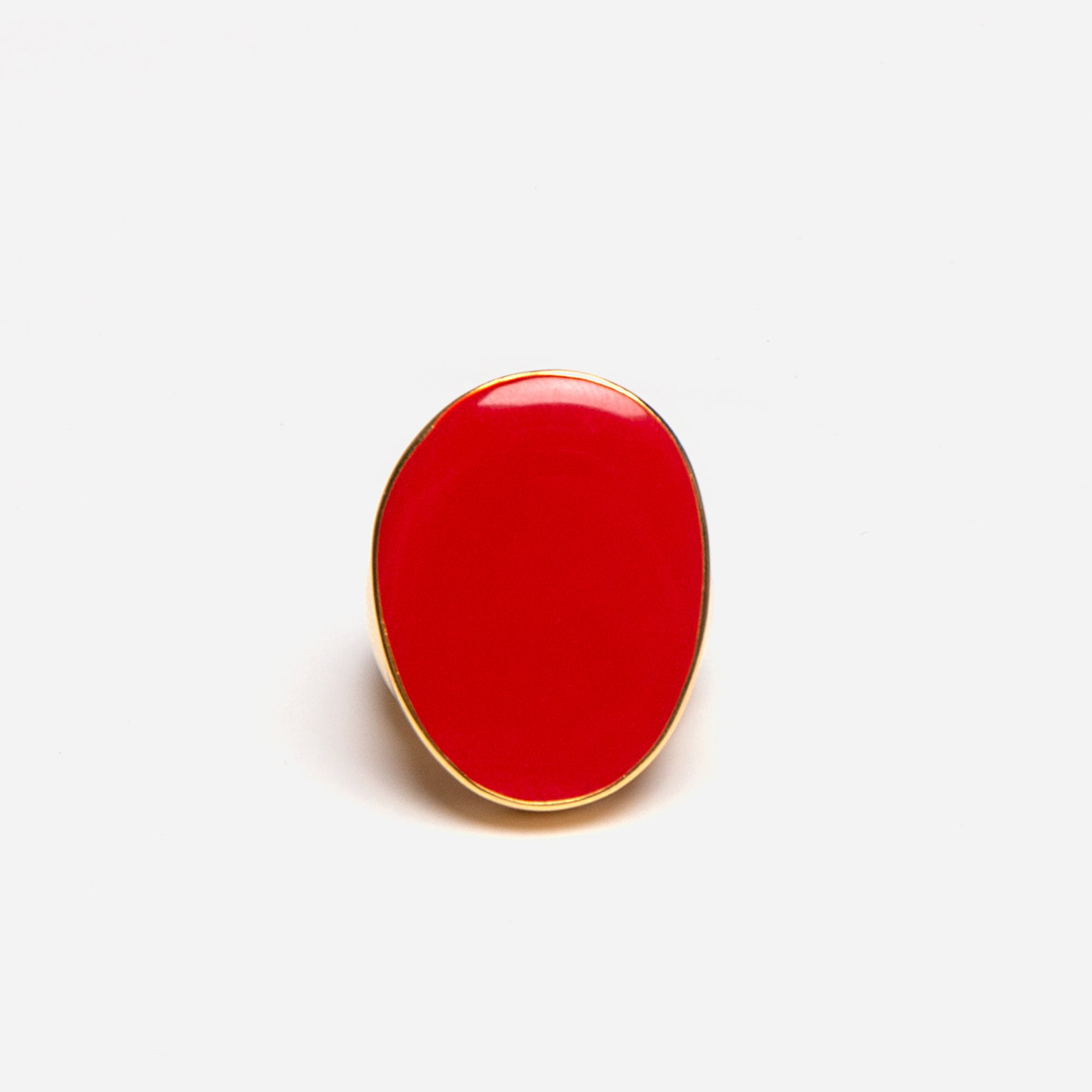 Enamel Palette Ring Red