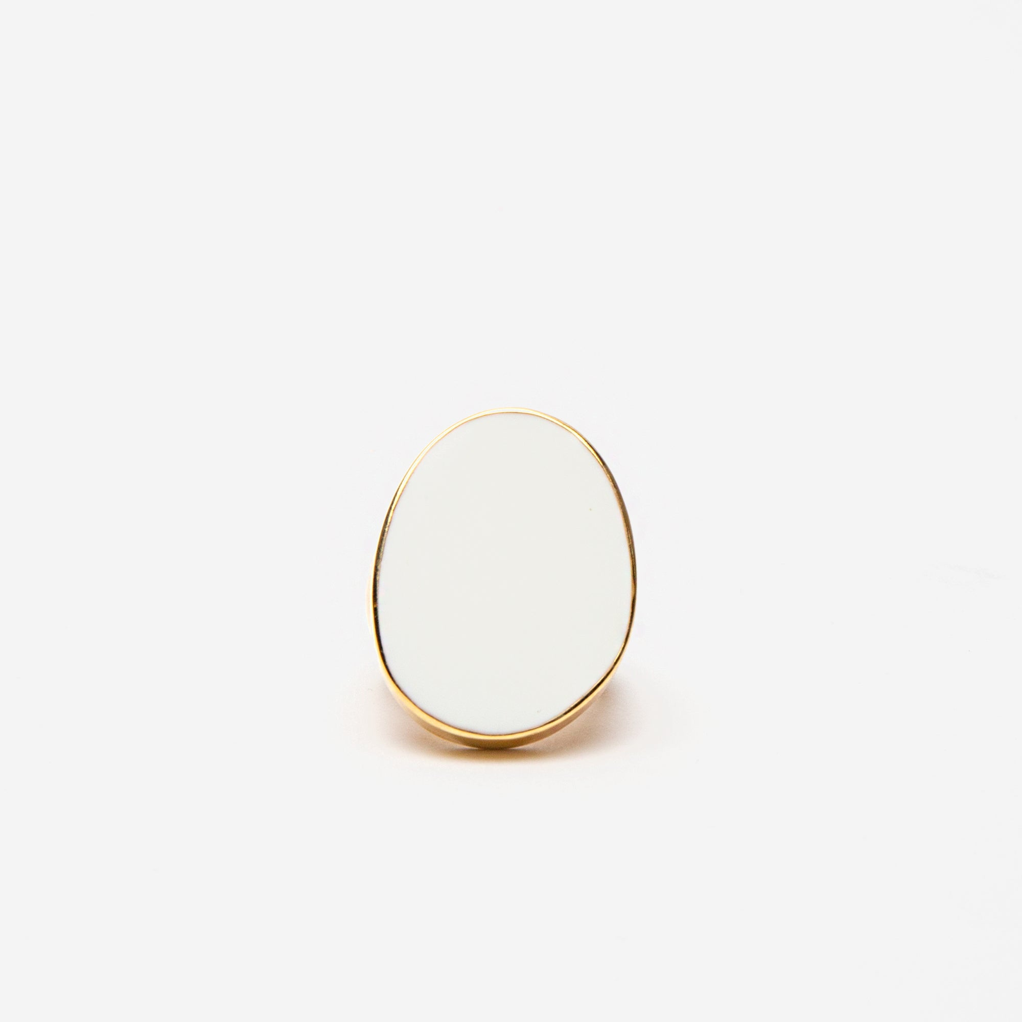 Enamel Palette Ring White