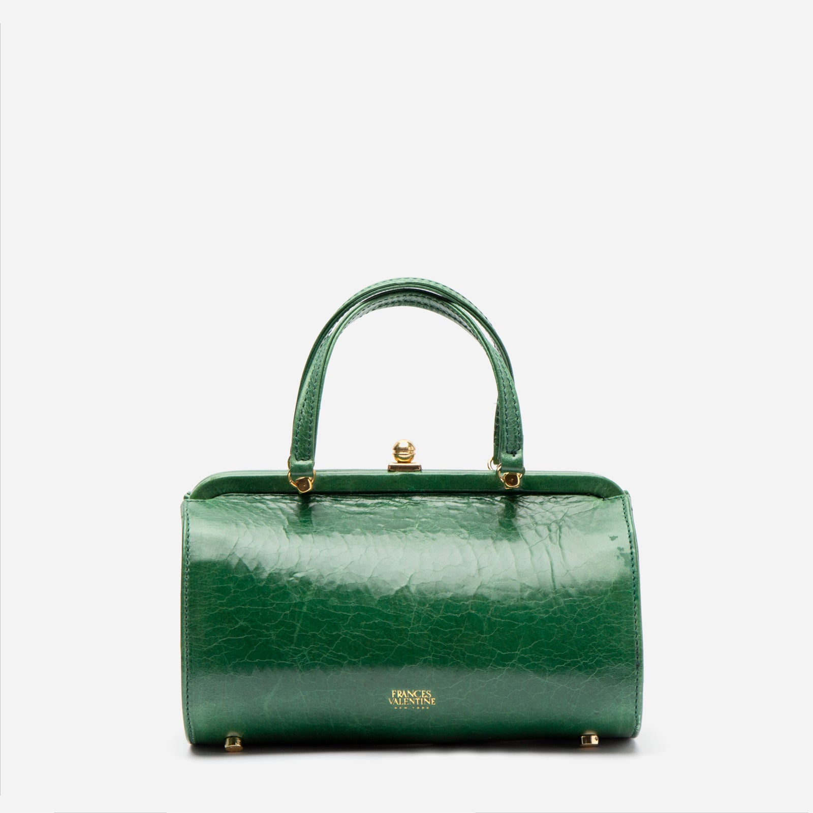 Petite Michelle Naplak Frame Bag Green