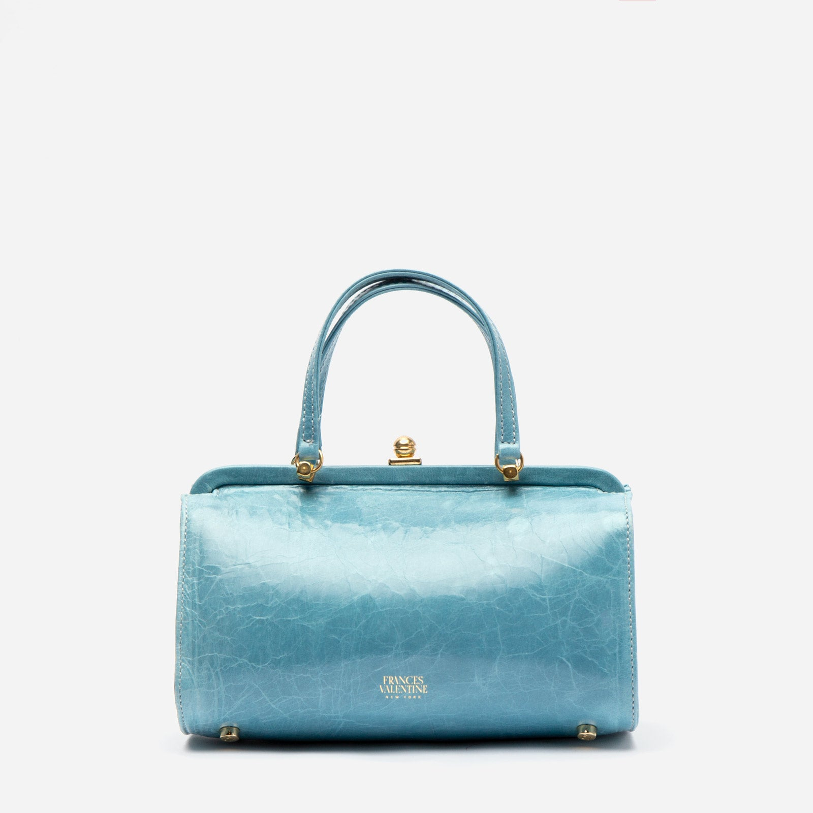 Petite Michelle Naplak Frame Bag Light Blue