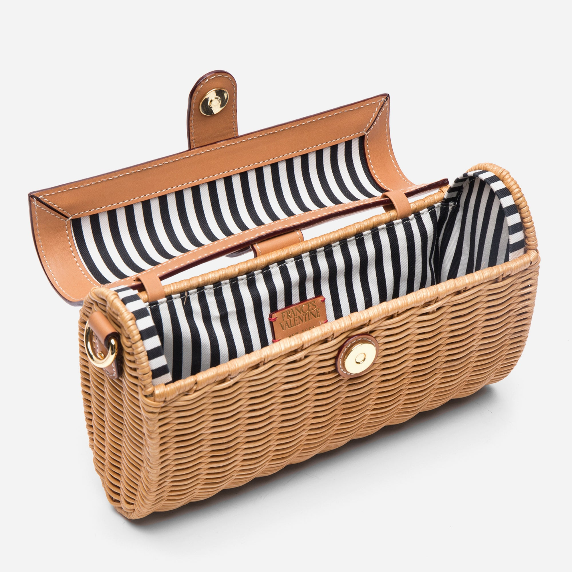Betsy Wicker Basket Bag Natural