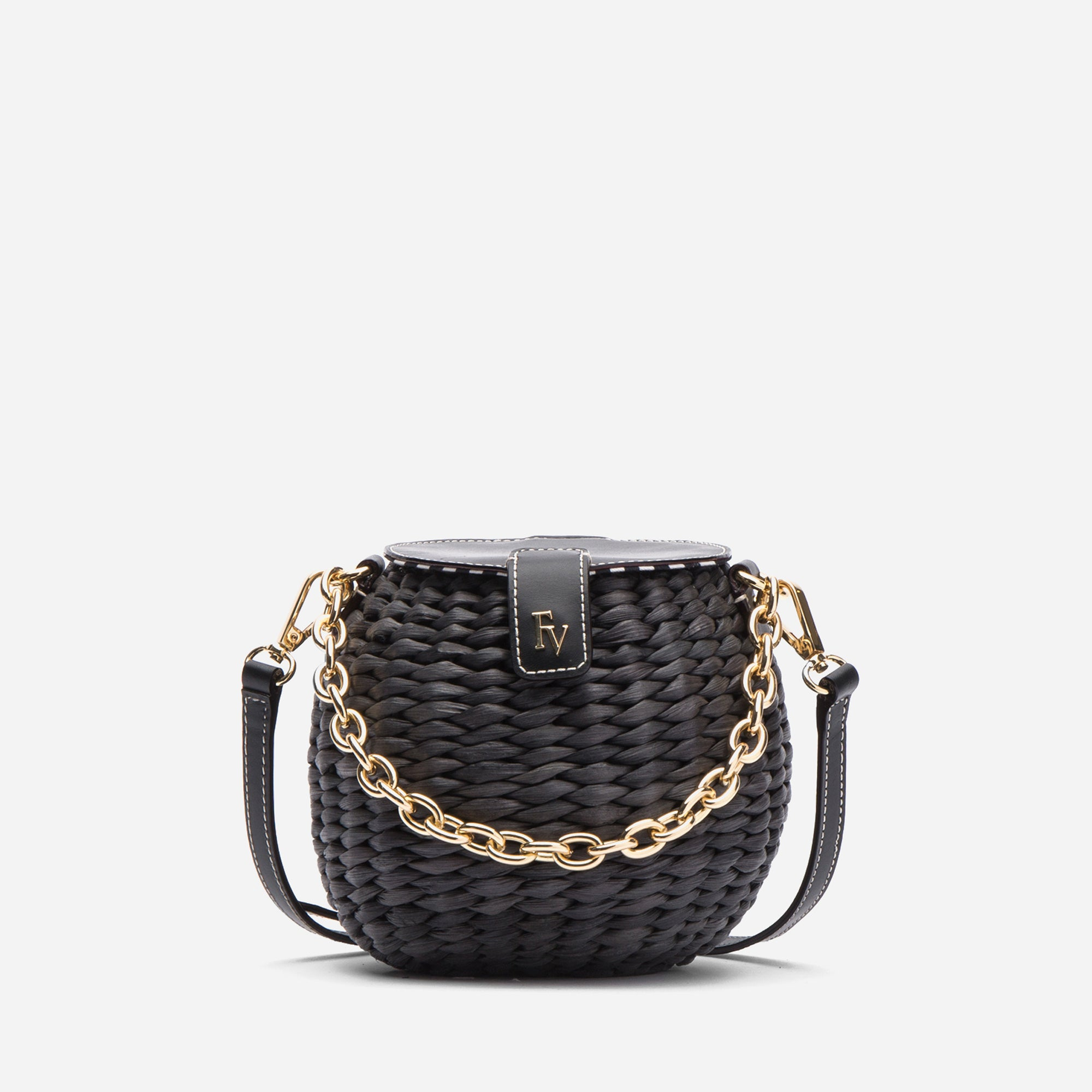Honeypot Basket Crossbody Black